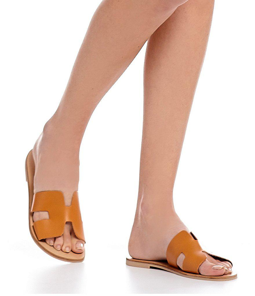030a79dcccf Lyst - Steve Madden Steven By Greece Leather Sandals in Brown