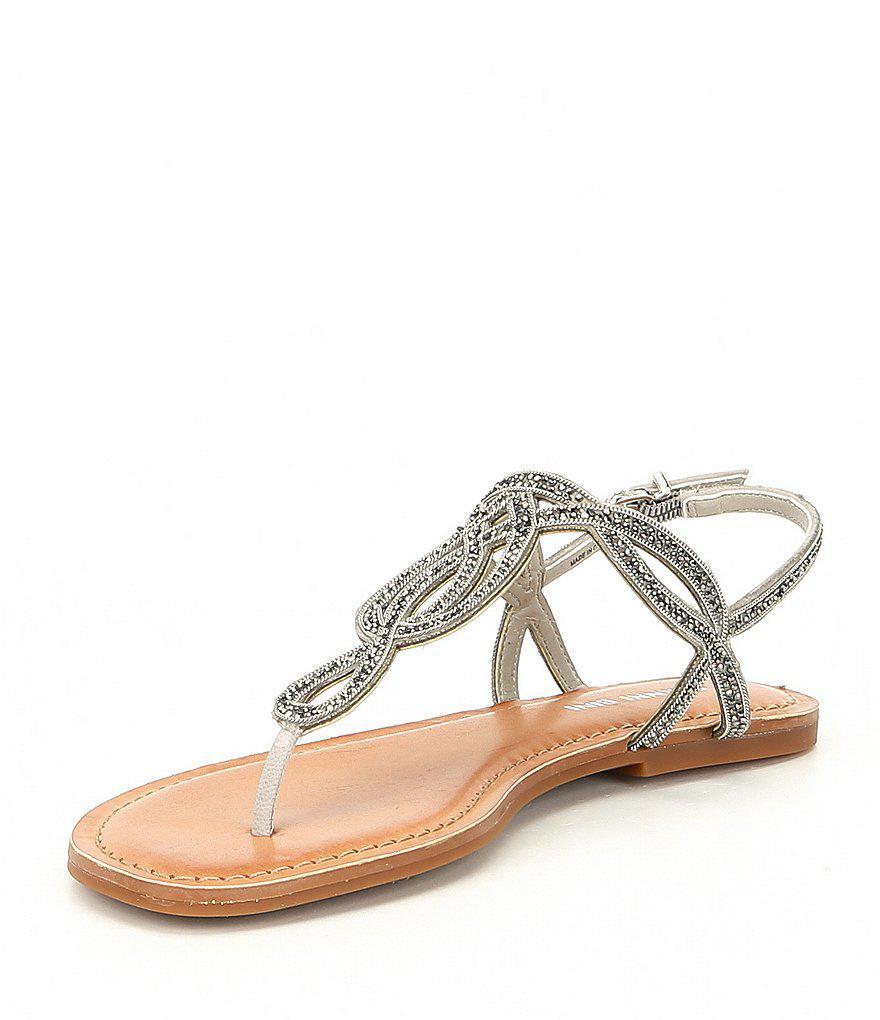 Starlitez Jeweled Nubuck Flat Sandals 3Go1Be
