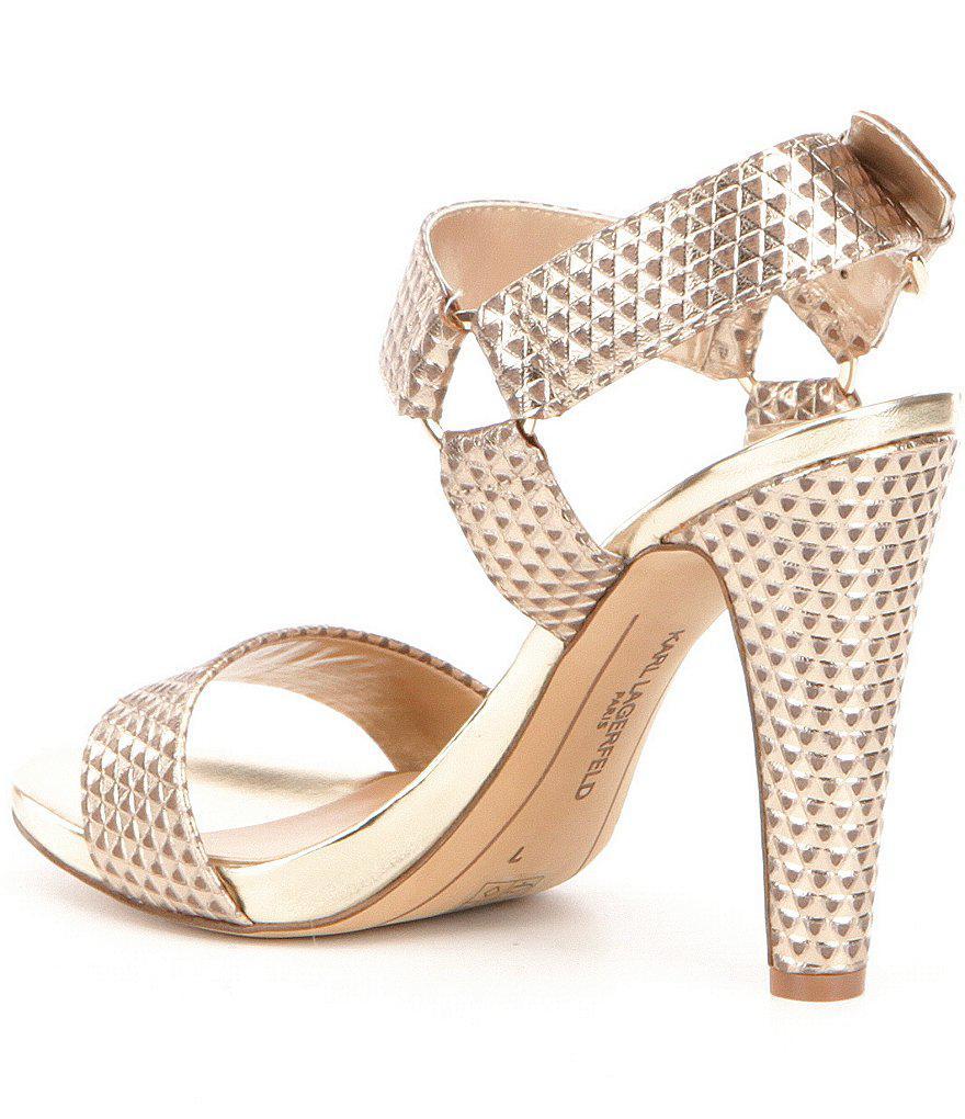 Cieone Metallic Leather Ankle Strap Dress Sandals NXDpjvEbSg