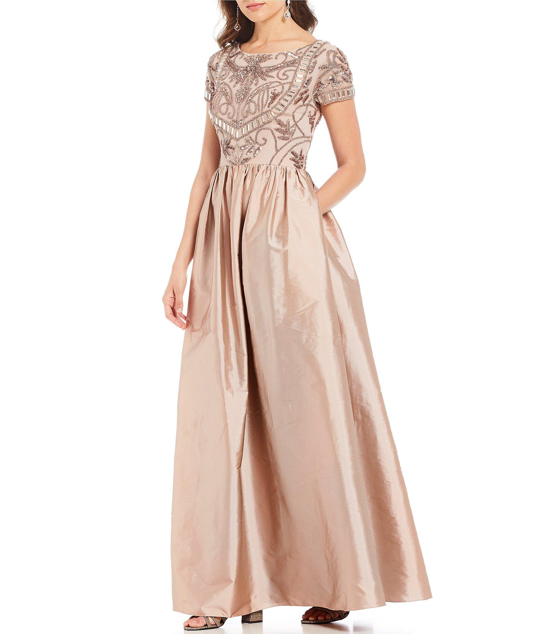 e07cc02867431 Lyst - Adrianna Papell Beaded Bodice Ballgown in Pink