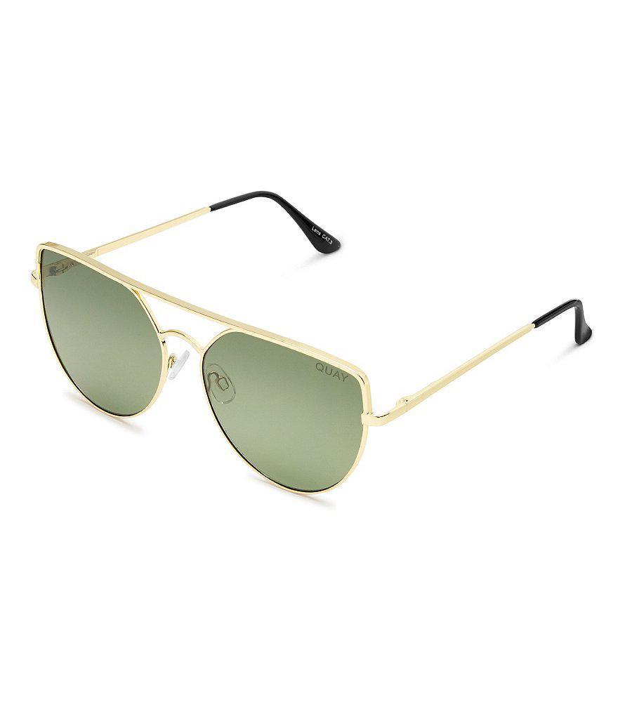 f25d4eba7d337 Lyst - Quay Sante Fe Aviator Sunglasses