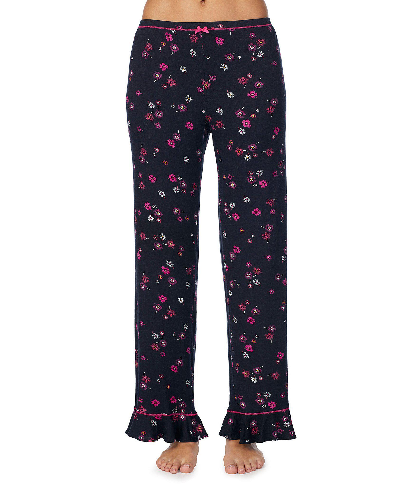 11bd6f4055 Lyst - Kensie Floral-printed Jersey Knit Sleep Pants in Blue