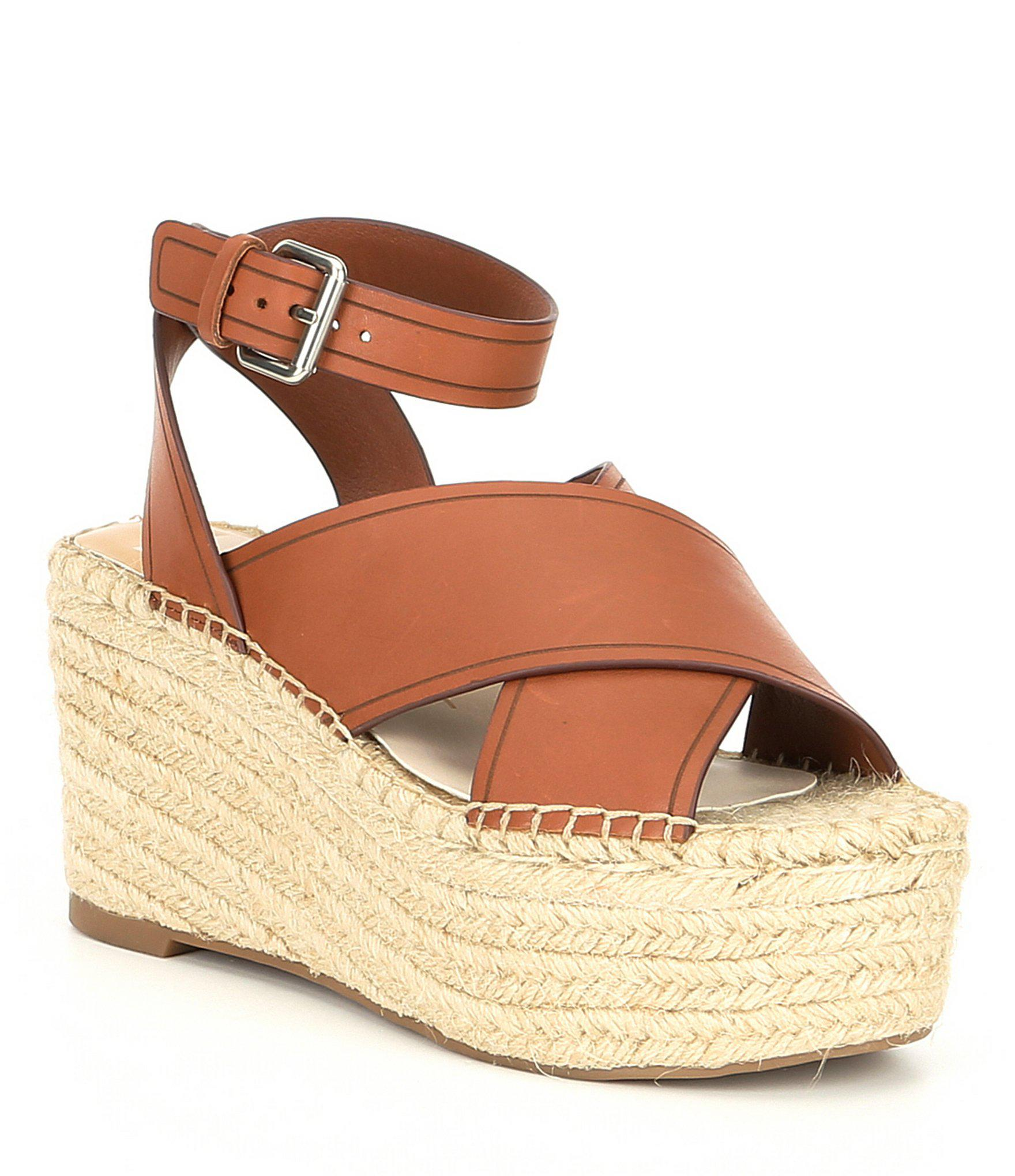 6e7019a87d1 Lyst - Dolce Vita Carsie Leather Espadrille Wedges in Brown