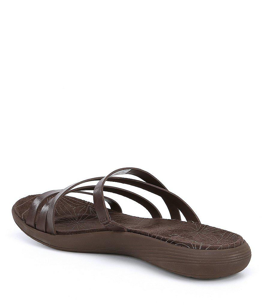 Merrell Duskair Seaway Post Strappy Leather Slip-On Sandals vuAminGCz