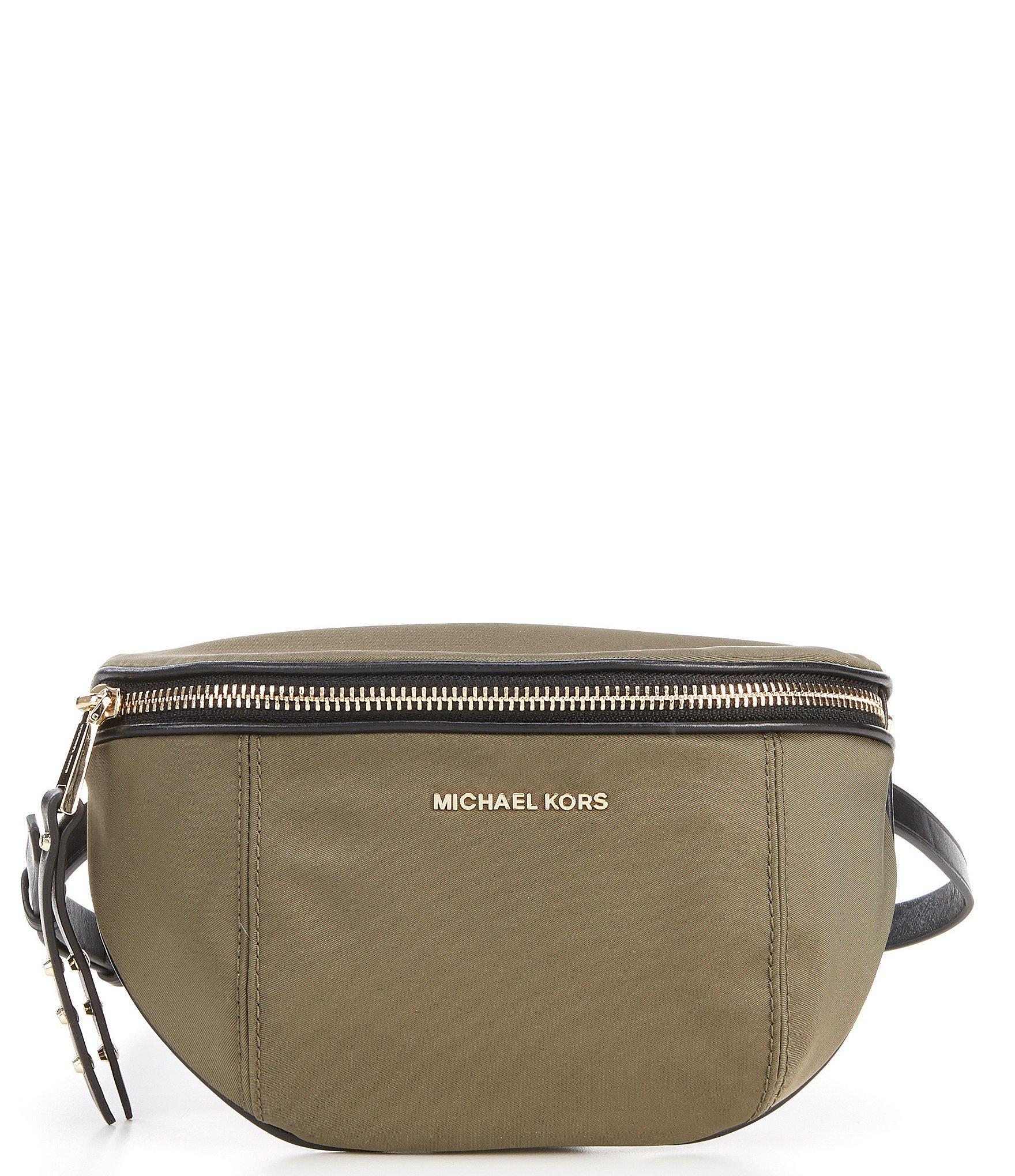 88de237a672e Lyst - MICHAEL Michael Kors Leila Small Nylon Belt Bag in Green