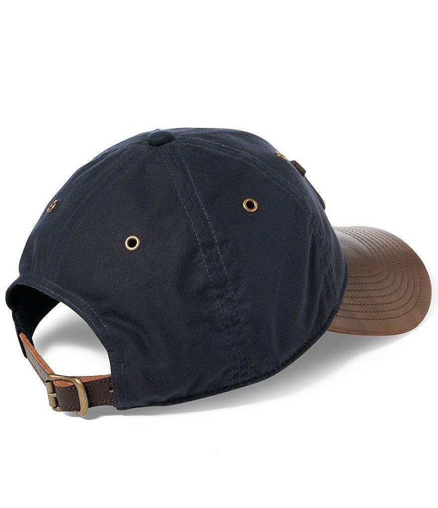 Lyst - Polo Ralph Lauren Waxed Cotton Baseball Cap in Blue for Men 0b2726b86cf7