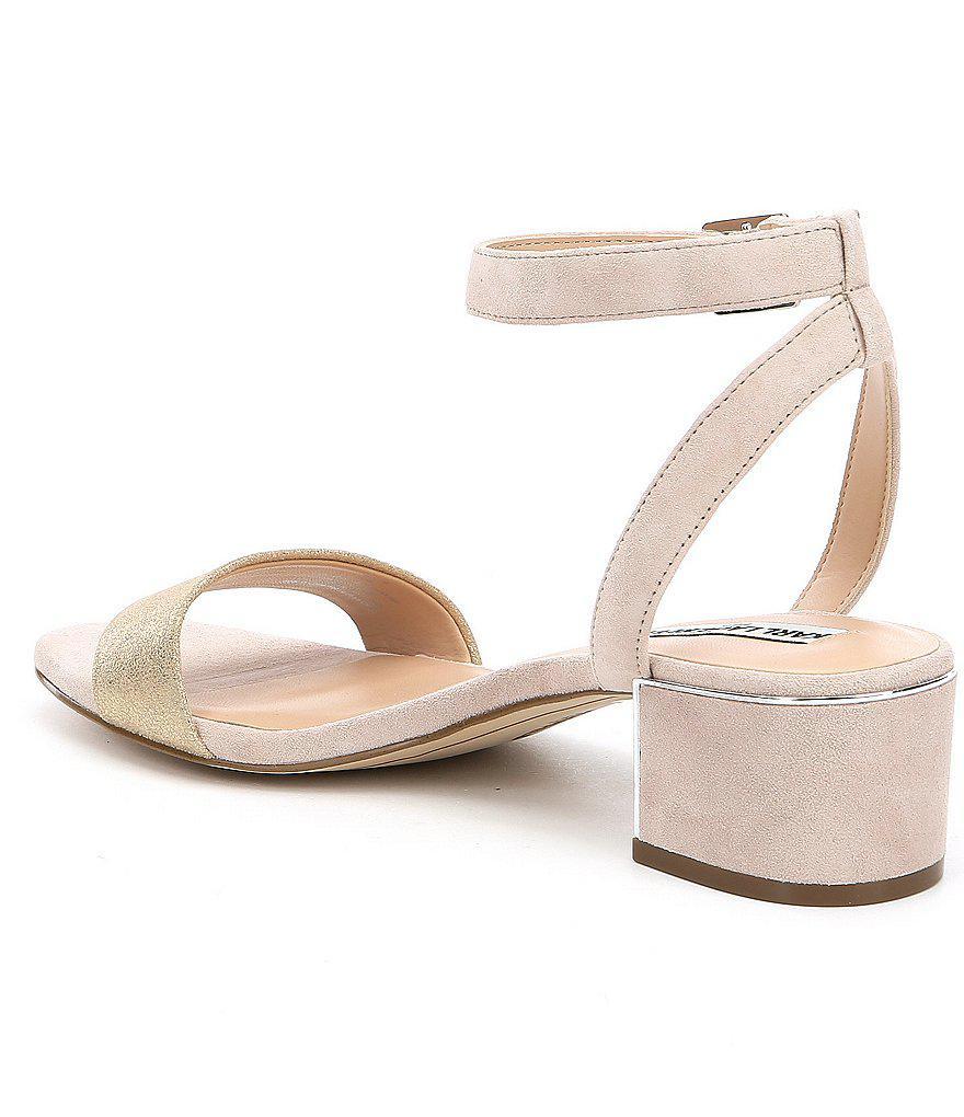 Tyne Suede Ankle Strap Block Heel Dress Sandals CFfns