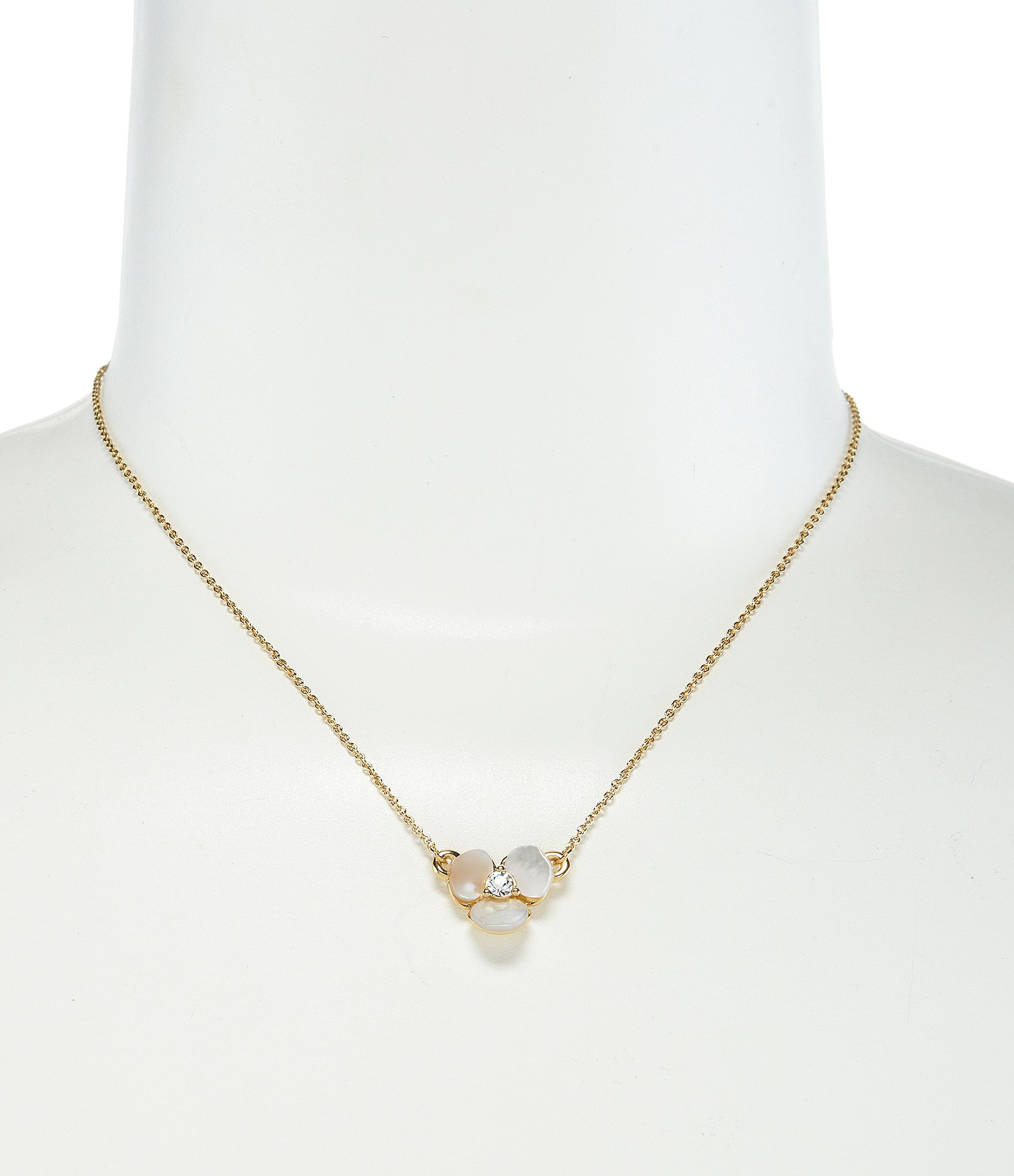 kate spade new york disco pansy mini pendant necklace in