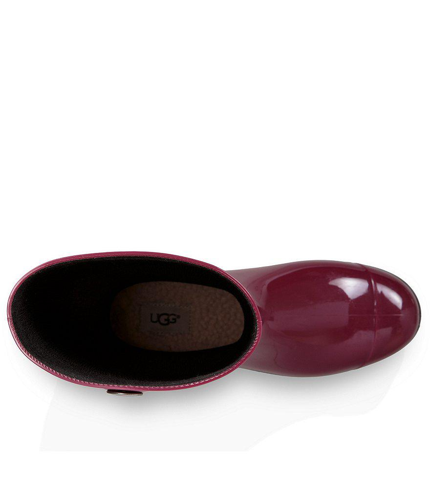 Lyst Ugg 174 Shaye Rubber Shearling Lined Glossed