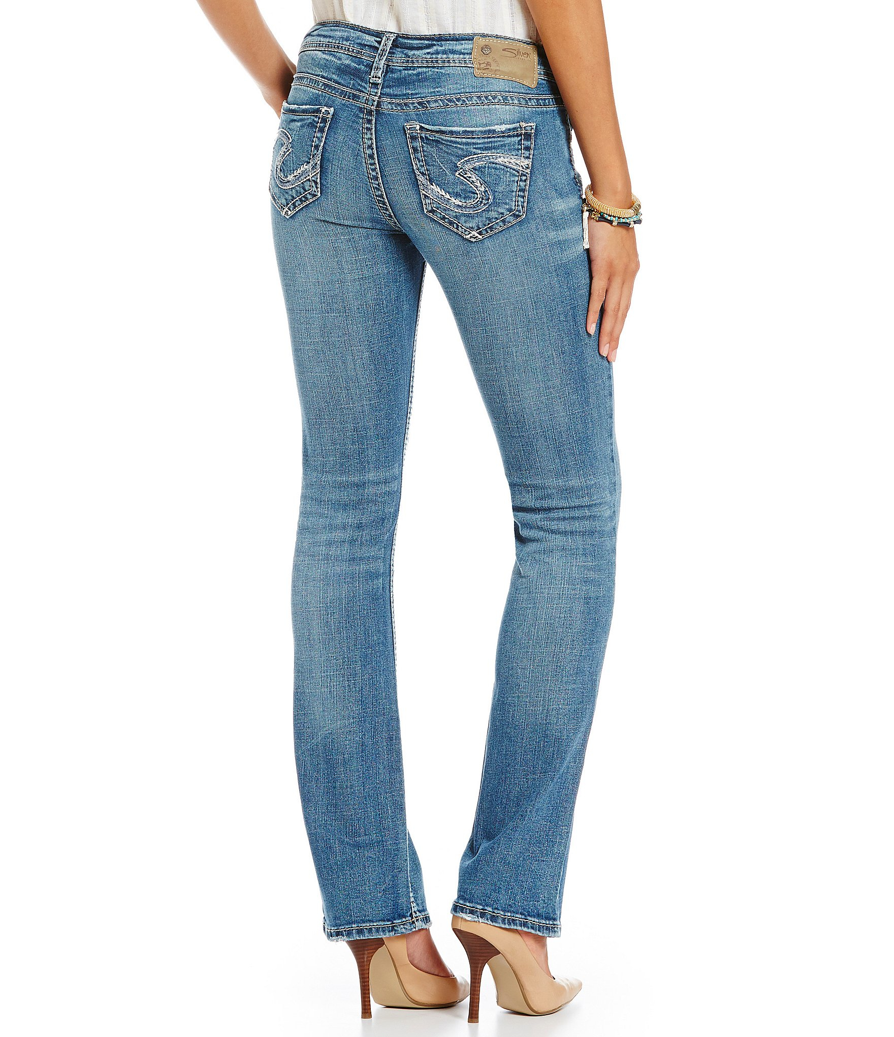 Lyst Silver Jeans Co Tuesday Distressed Stretch Denim