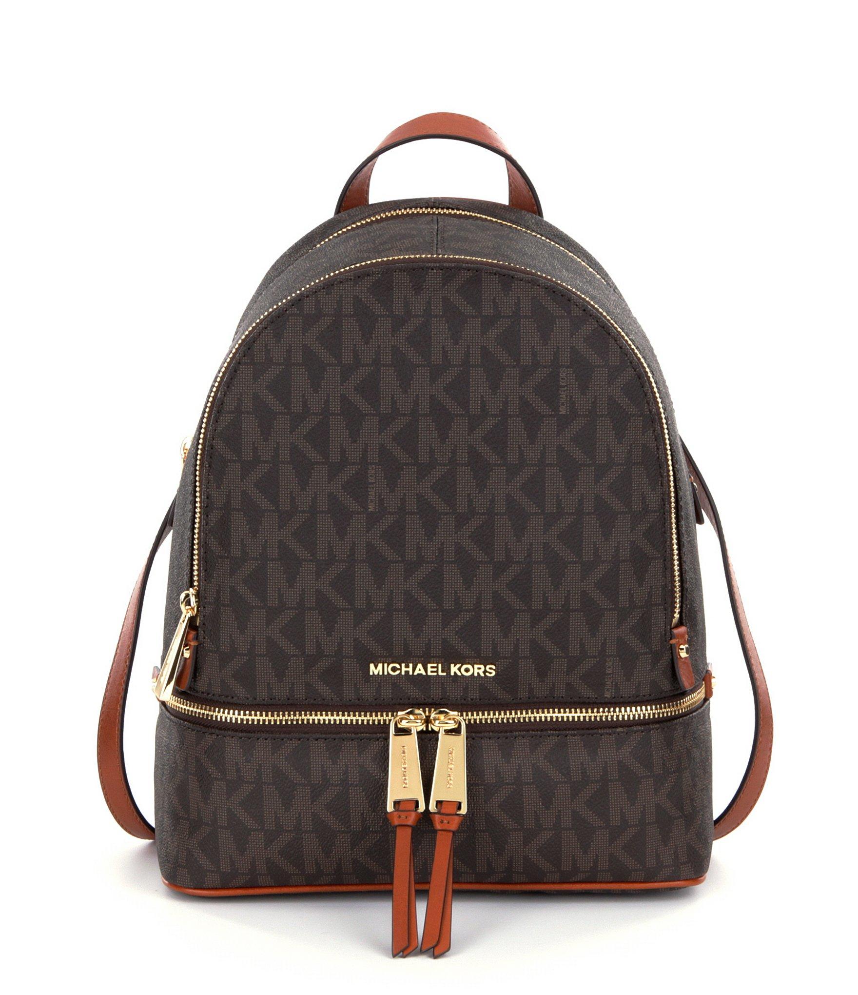 3e45a7b1cd0c ... ireland lyst michael michael kors rhea signature backpack in black  827a4 d09a6