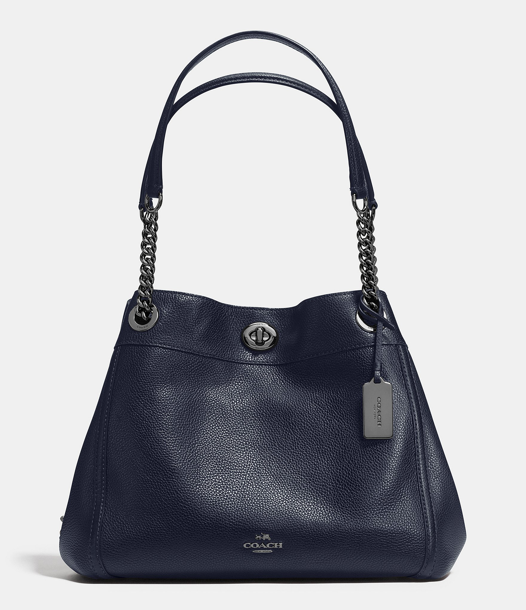 78ee59449 Coach Edie Turnlock Leather Shoulder Bag | Stanford Center for ...