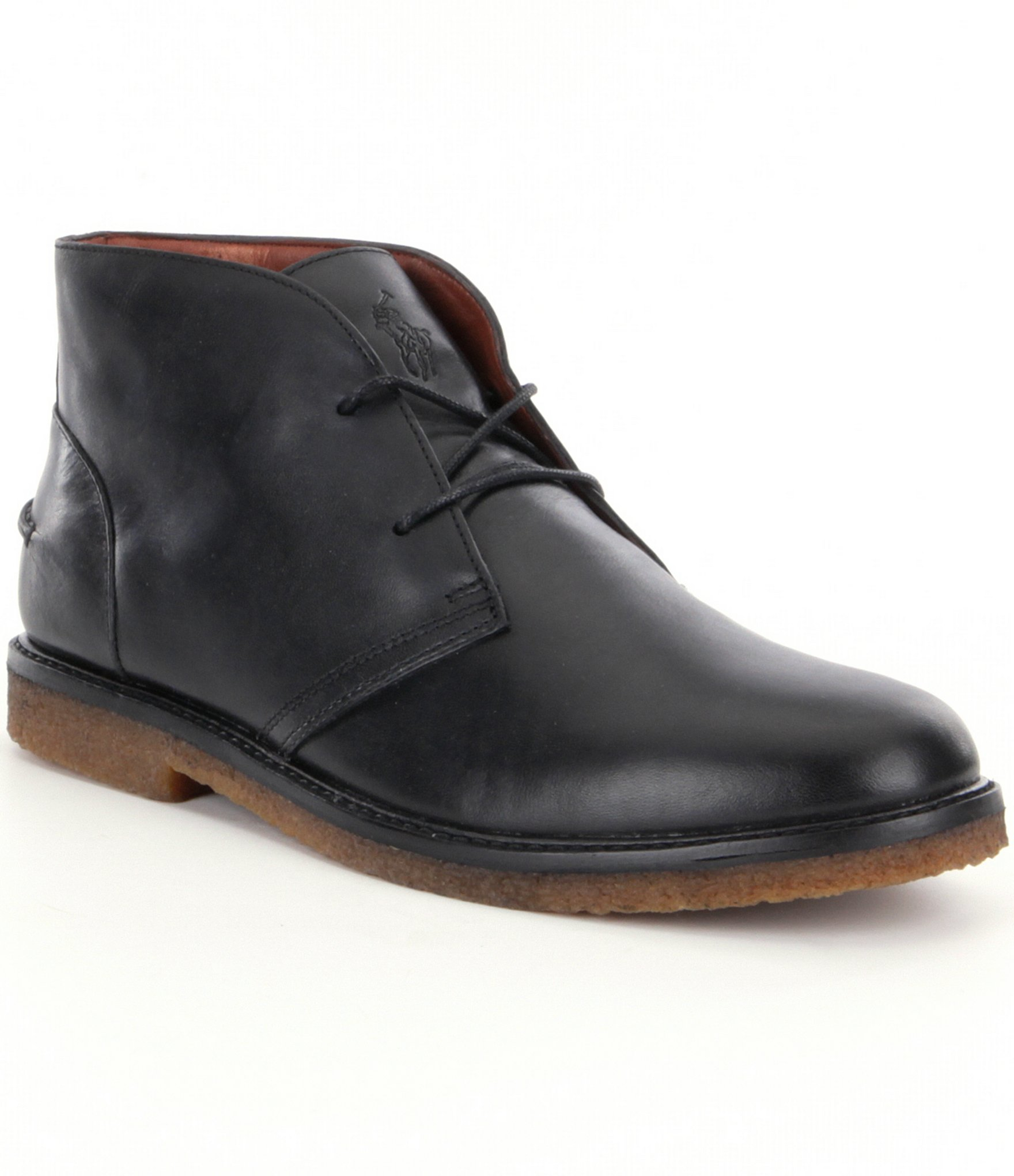 polo ralph 180 s marlow chukka boot in black for