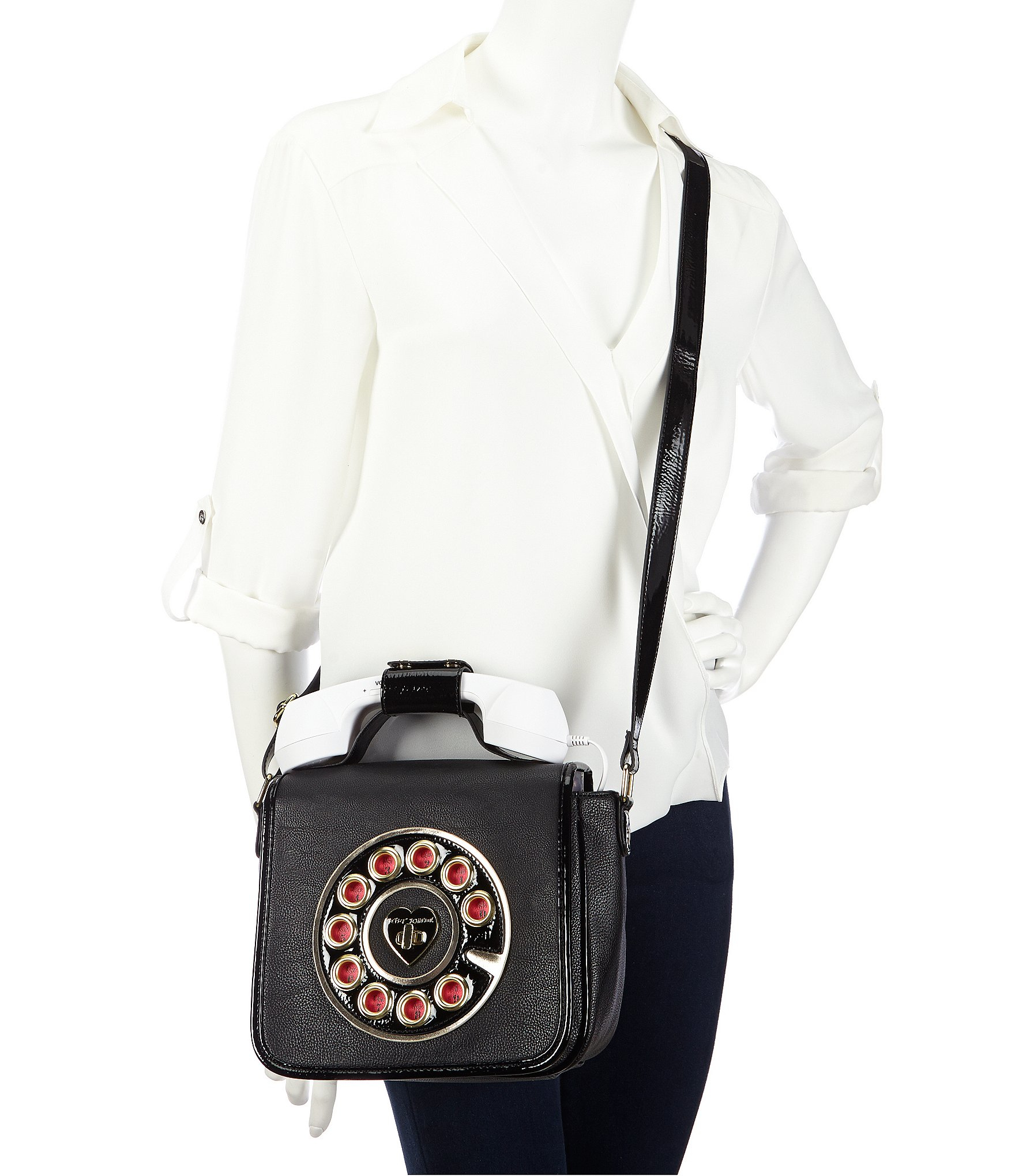 Betsey Johnson Heart Quilted Crossbody Bag In Black Lyst