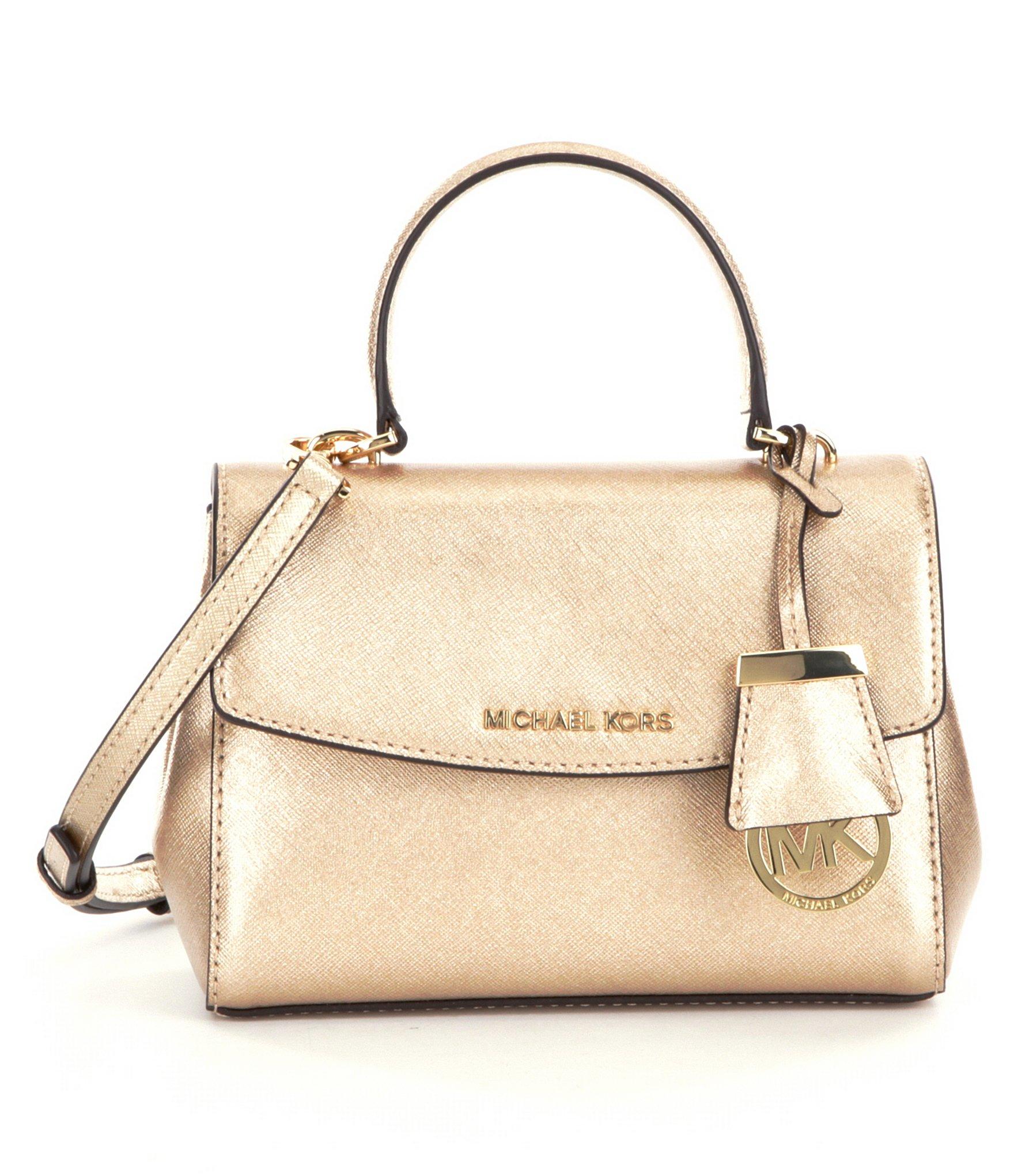 4b92fea4023962 MICHAEL Michael Kors Ava Xs Metallic Cross-body Bag in Metallic - Lyst