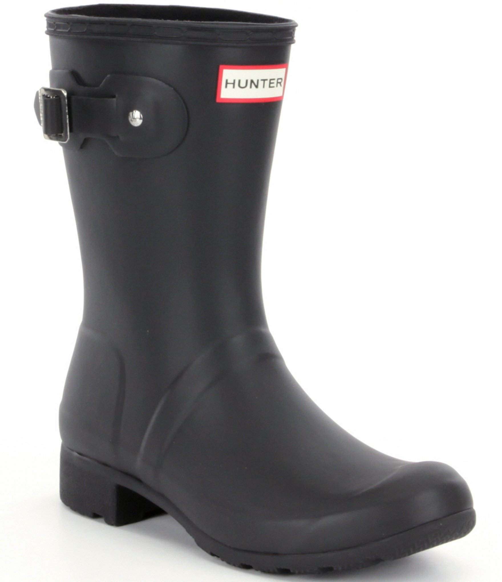 hunter original tour matte short rain boots in black lyst