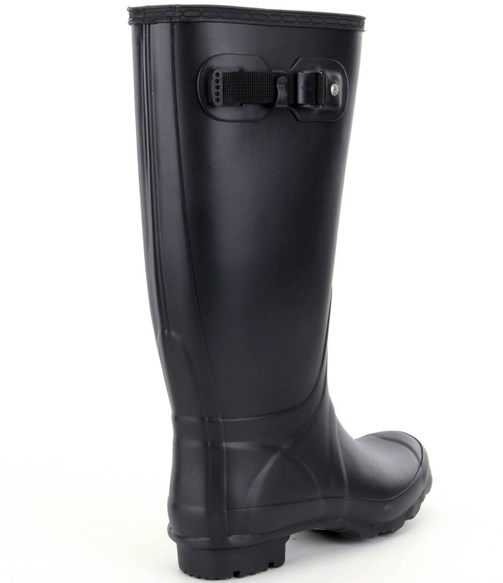 Hunter Original Huntress Matte Wide Calf Rain Boots In