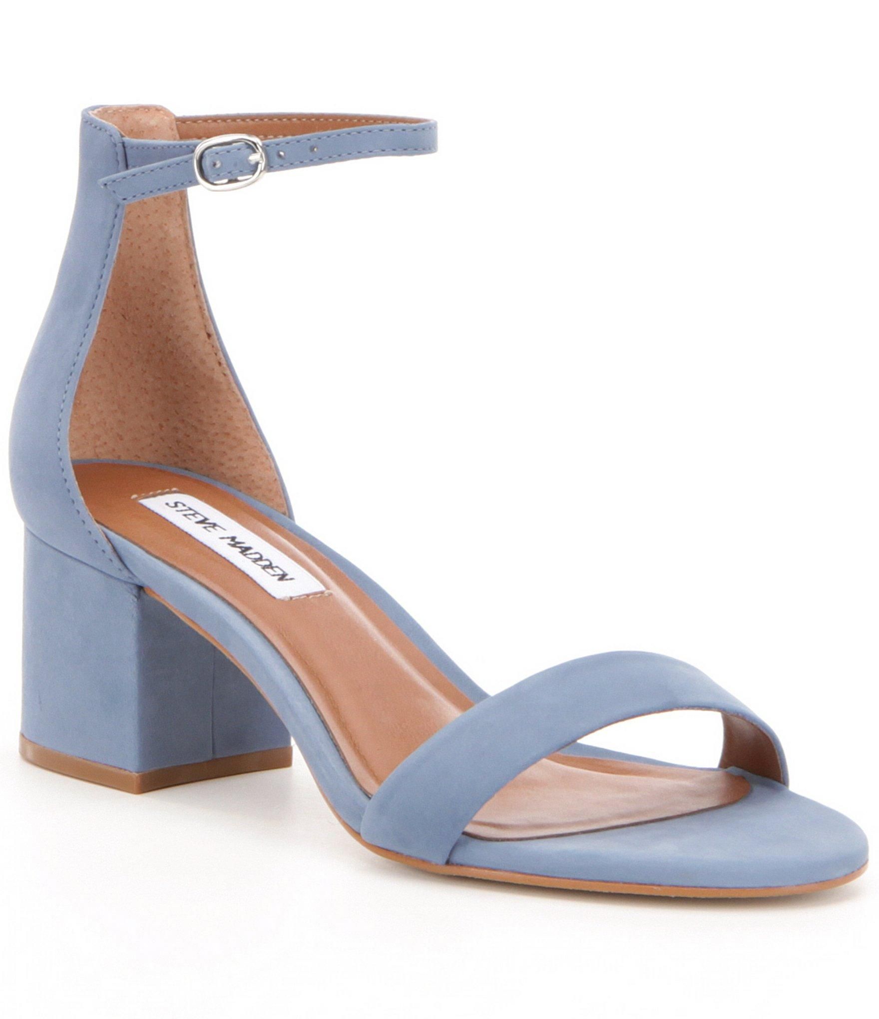 061b03e957 Steve Madden Irenee Ankle Strap Suede Block Heel Dress Sandals in ...