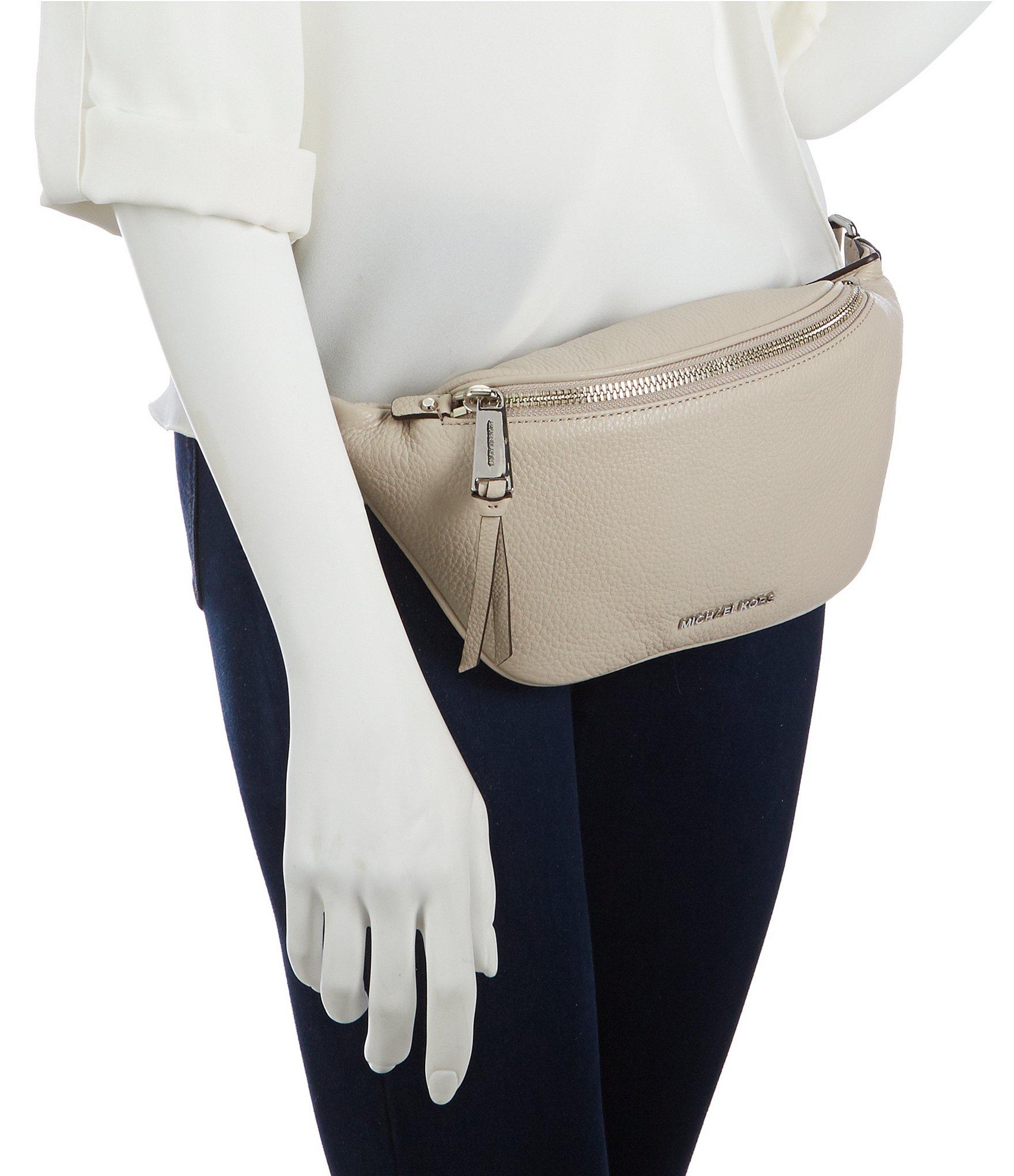 46e27ea643a389 MICHAEL Michael Kors Rhea Leather Zip Belt Bag in Natural - Lyst