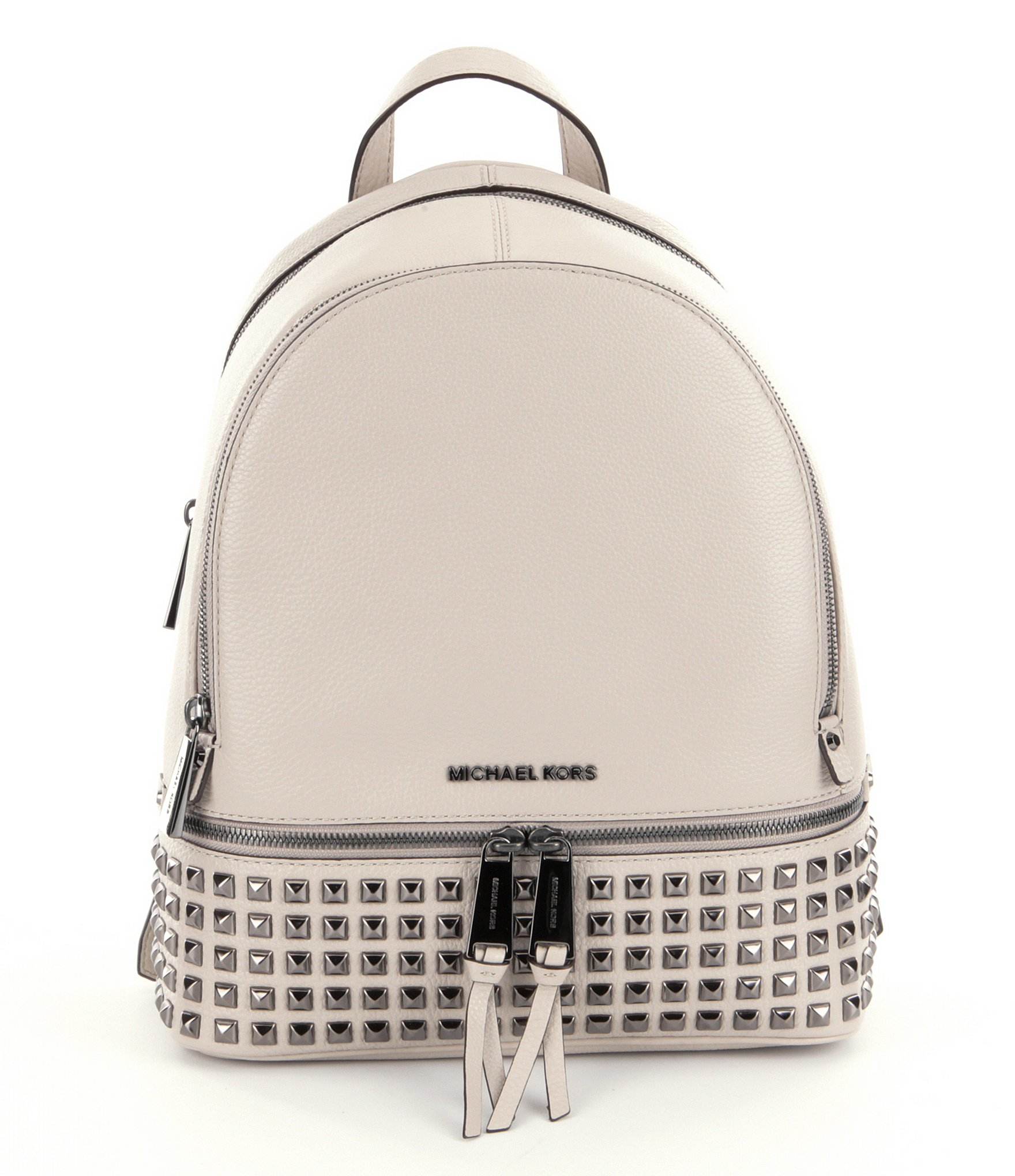 ed93299df835 ... italy ireland michael michael kors rhea studded leather medium backpack  in natural 211dd 7a526 b9db5 50c61