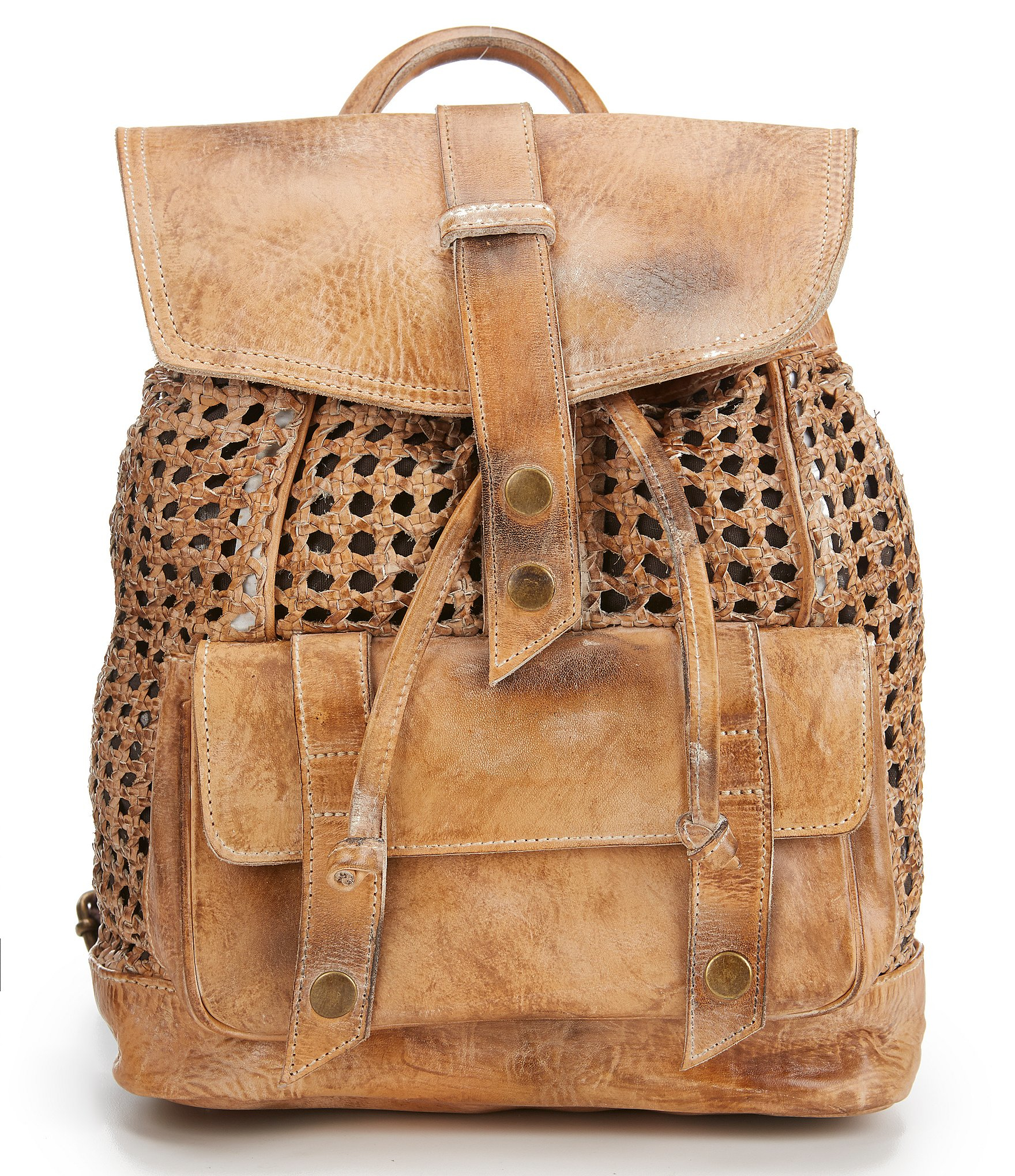 Lyst - Bed Stu Naples Hand-woven Drawstring Backpack in Brown 40738af7facd5