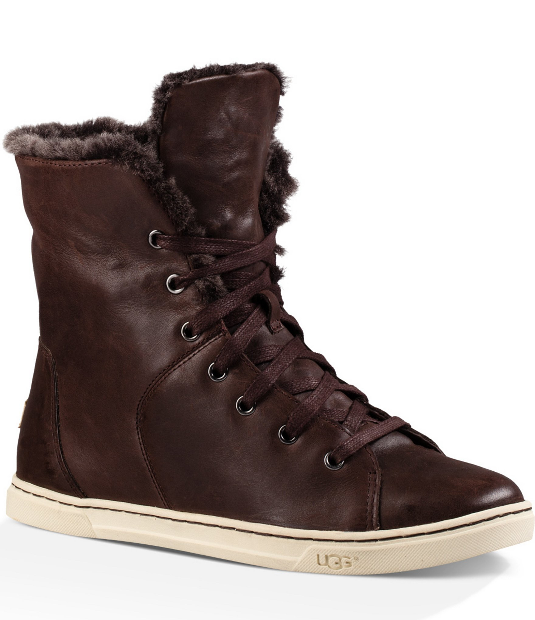 Lyst Ugg Croft Luxe Quilt Lace Up Sneakers In Brown