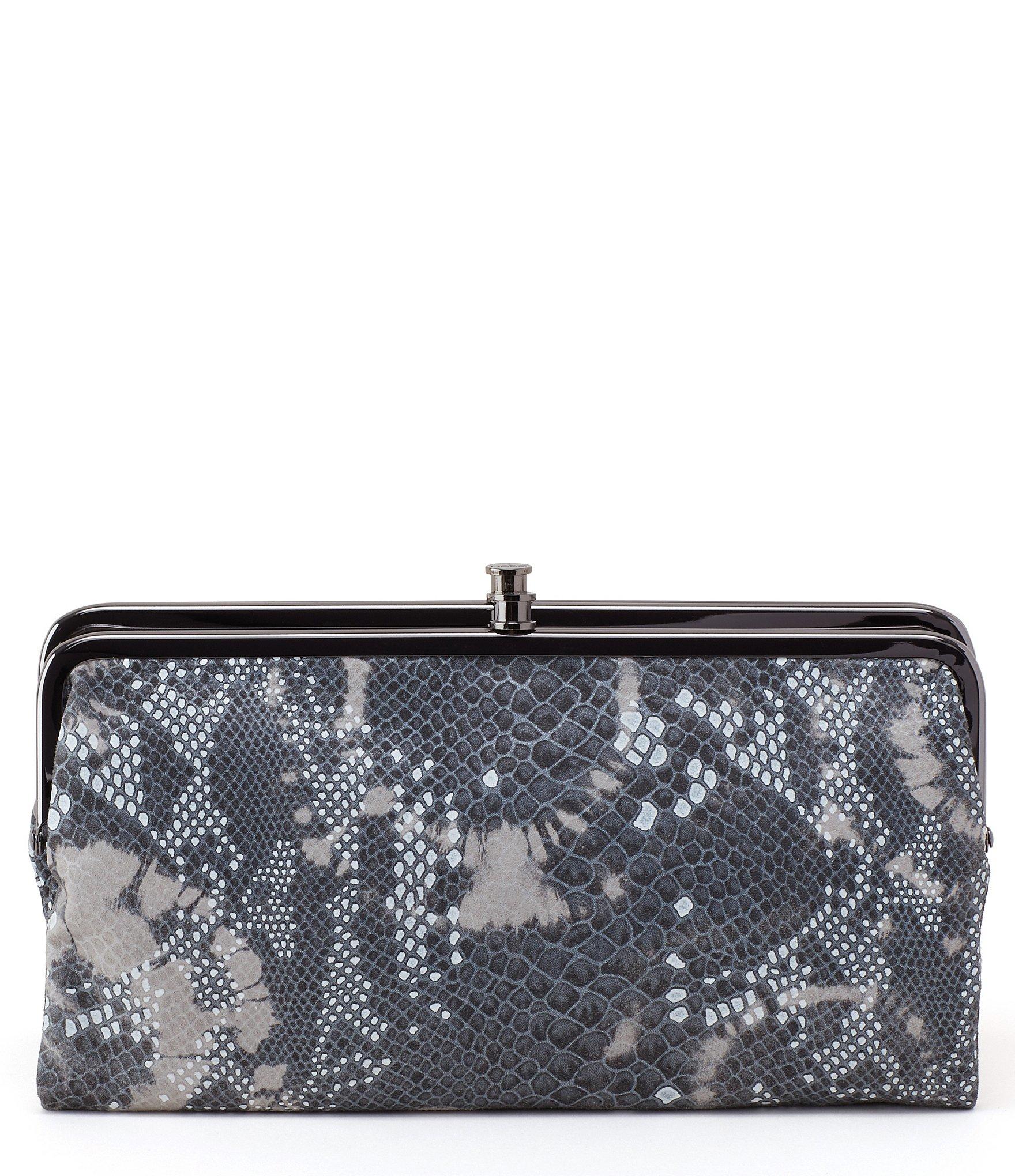 hobo multicolor original lauren snake patterned double frame clutch wallet lyst - Double Frame Clutch Wallet