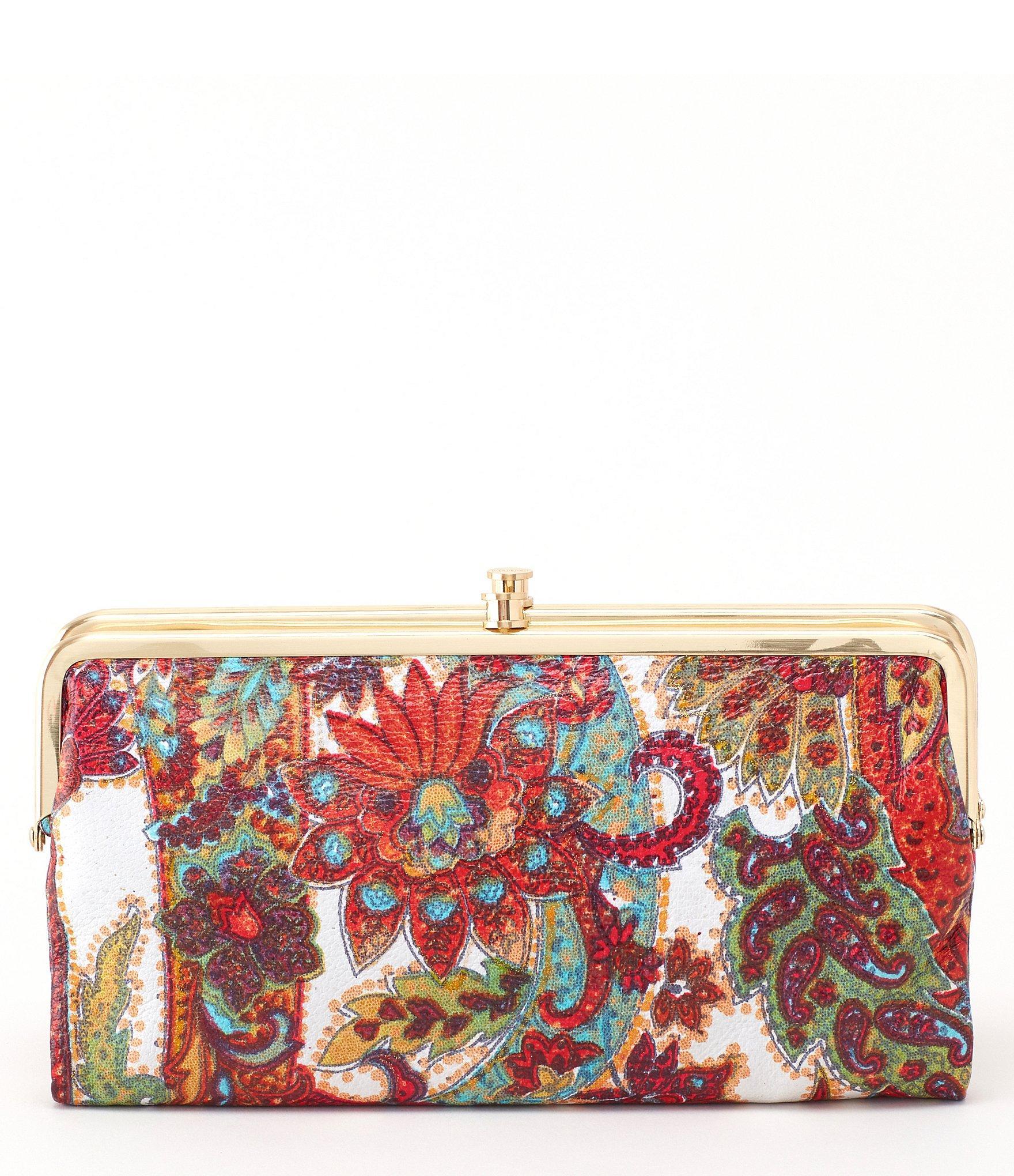 hobo red original lauren paisley double frame clutch wallet lyst - Double Frame Clutch Wallet