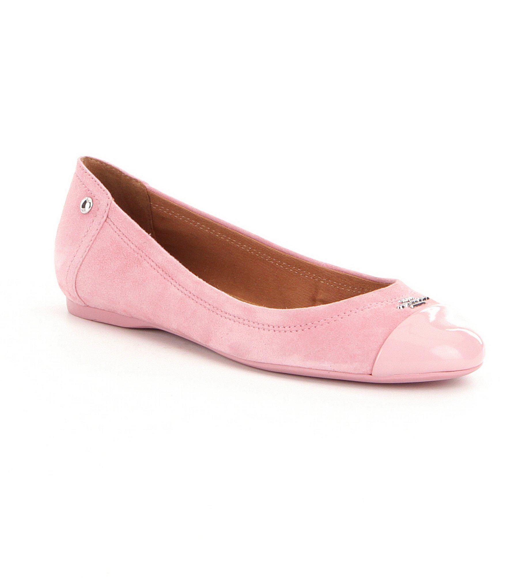 76b62c203a20 ... australia lyst coach chelsea suede ballet flats in pink fdb8b 9b2ec