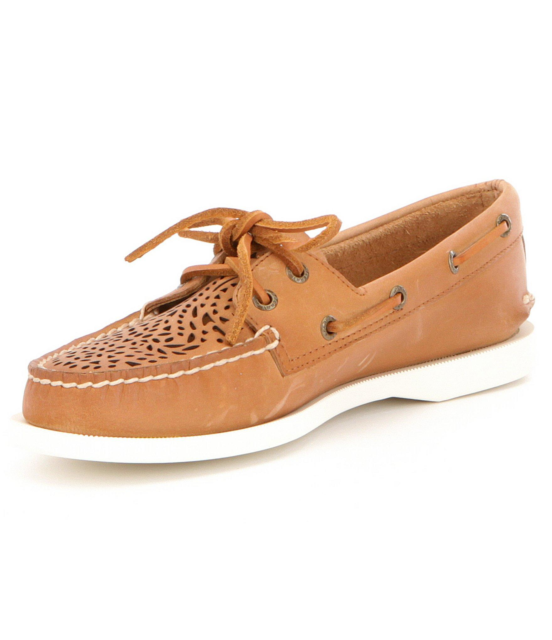 sperry top sider sky sail canvas vulcanized leather boat