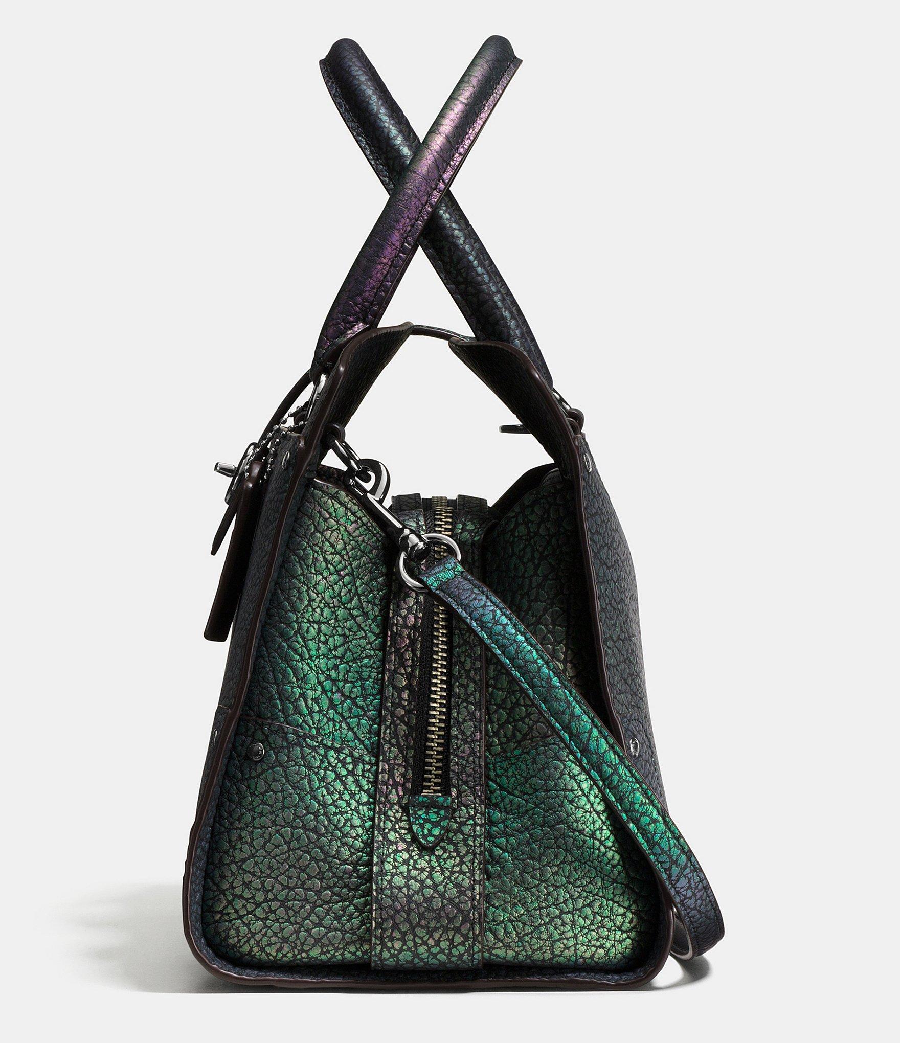59b8ba8b9 ... official store coach mercer 30 hologram leather satchel lyst a8e2e 80779