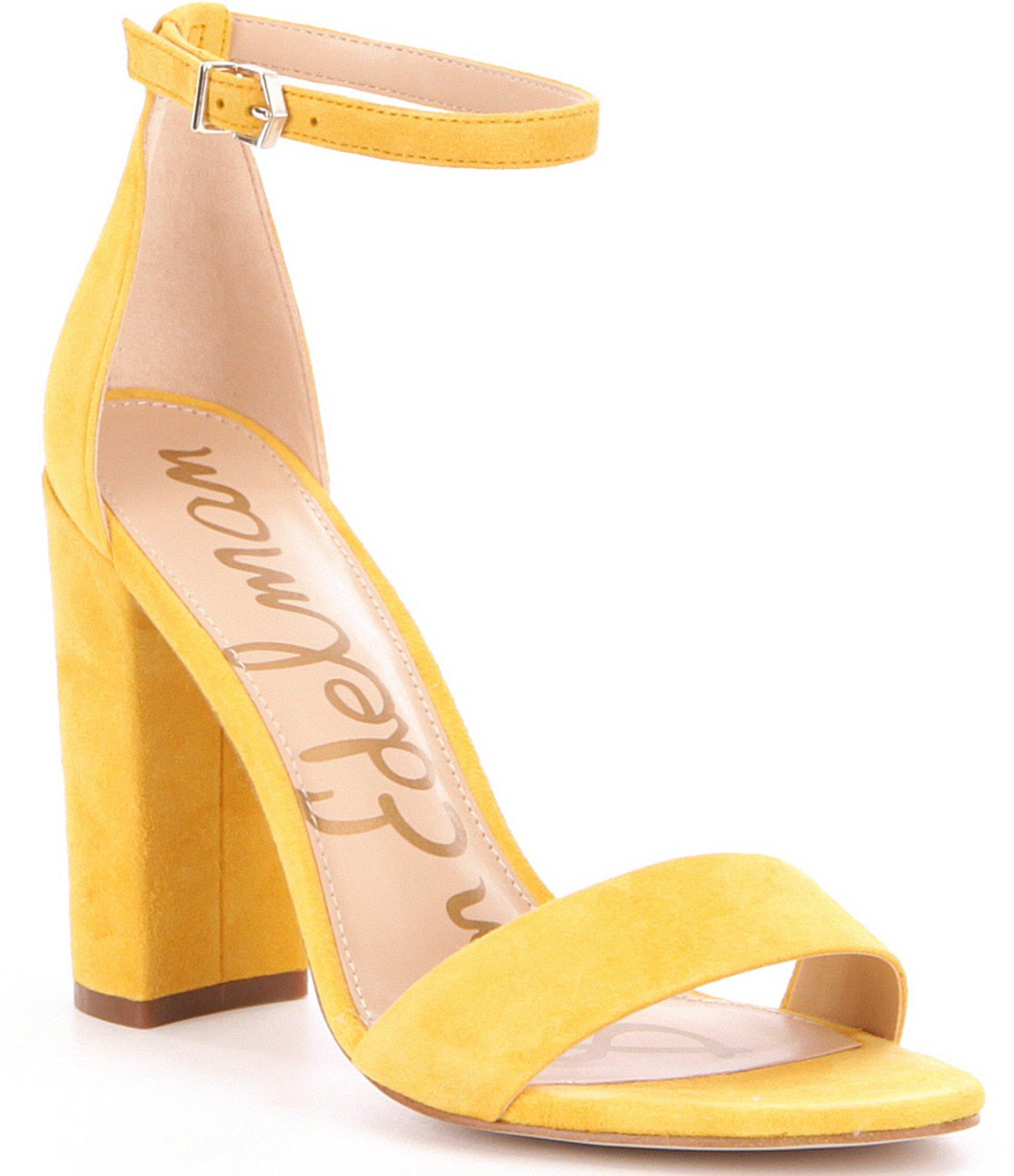 Yellow Block Heels Ha Heel