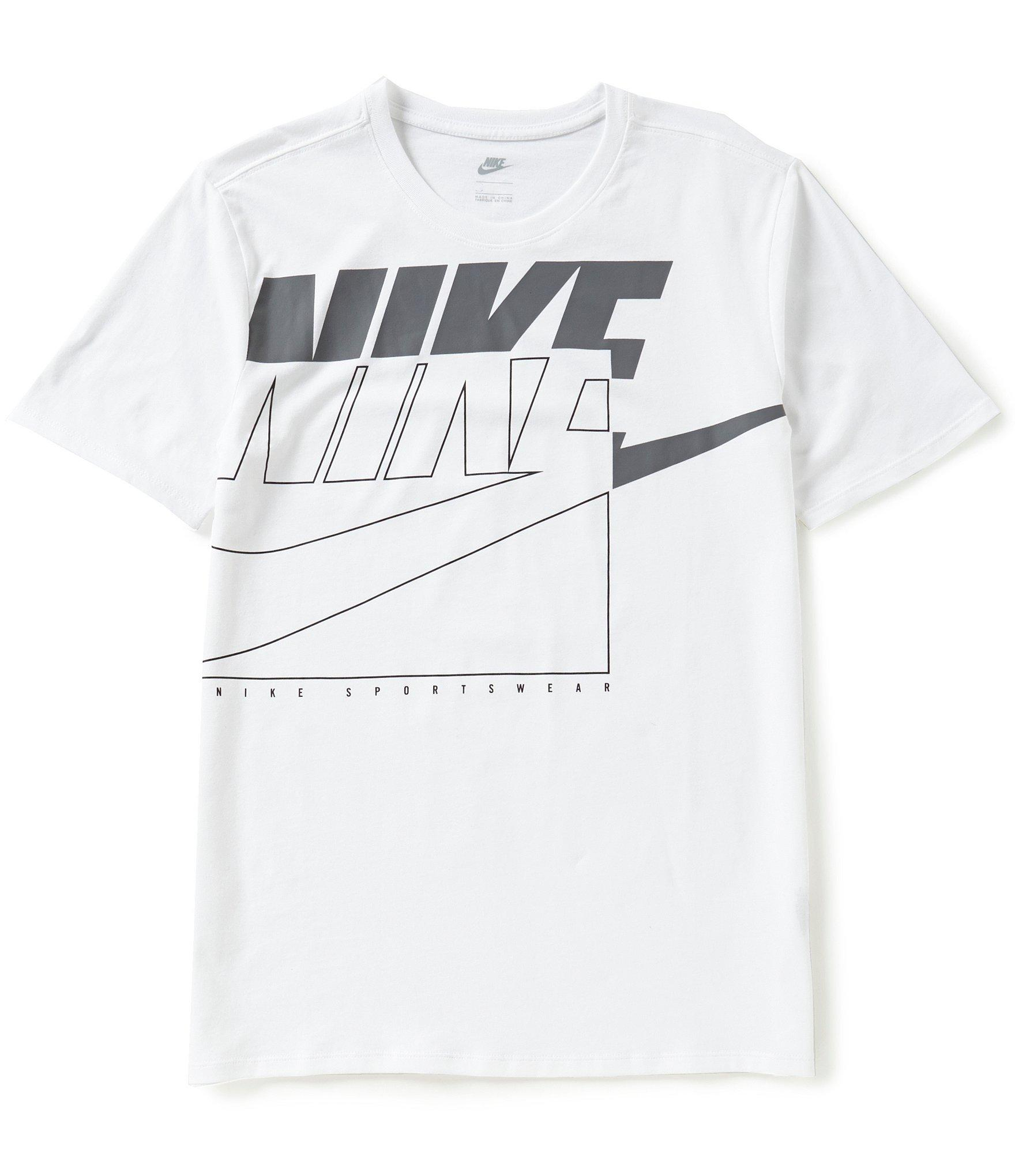 Lyst - Nike Futura Short-sleeve Crewneck Graphic Tee in White for Men 6e4ba9e1bcd