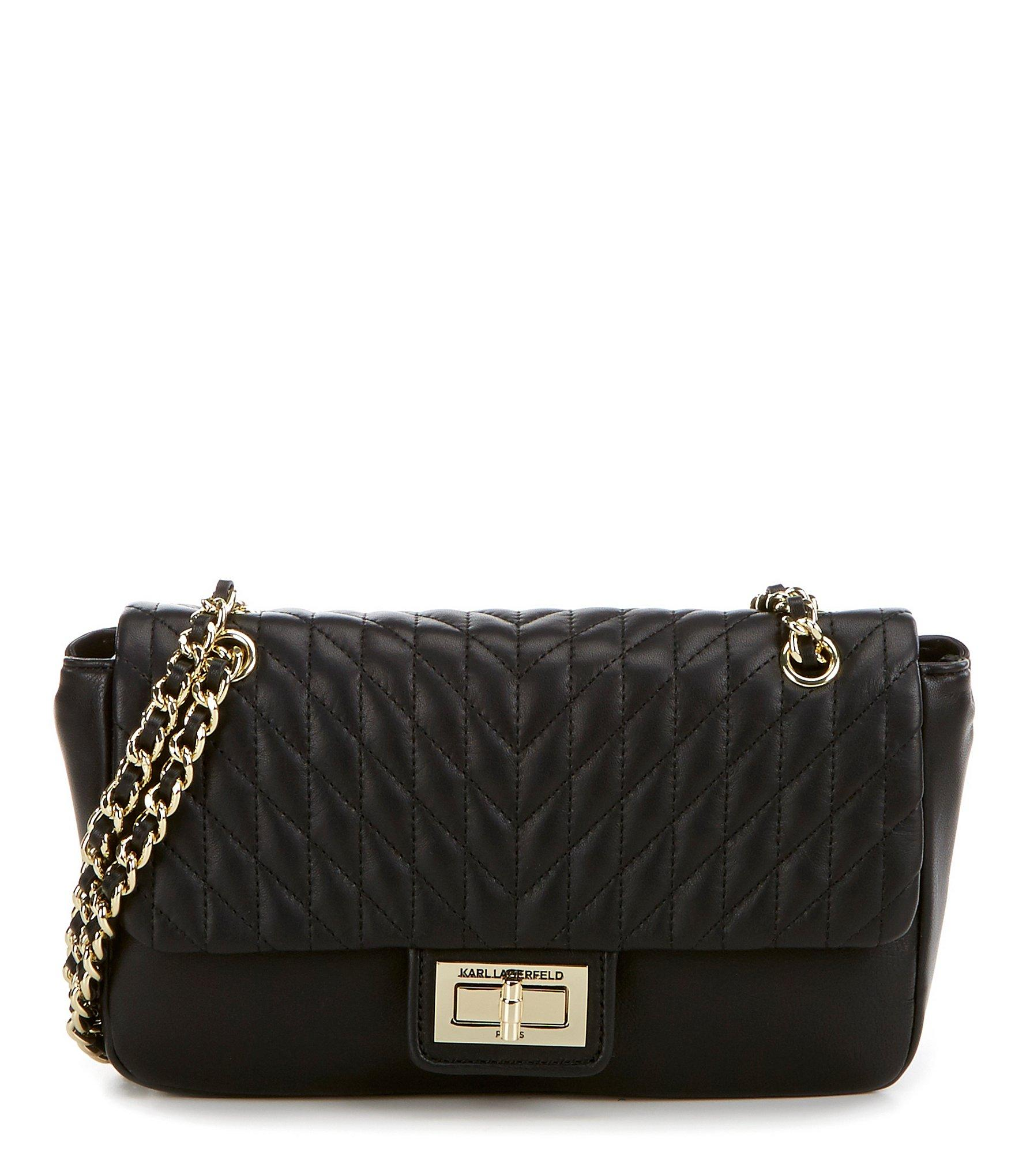 Lyst Karl Lagerfeld Agyness Chevron Diamond Quilted Demi