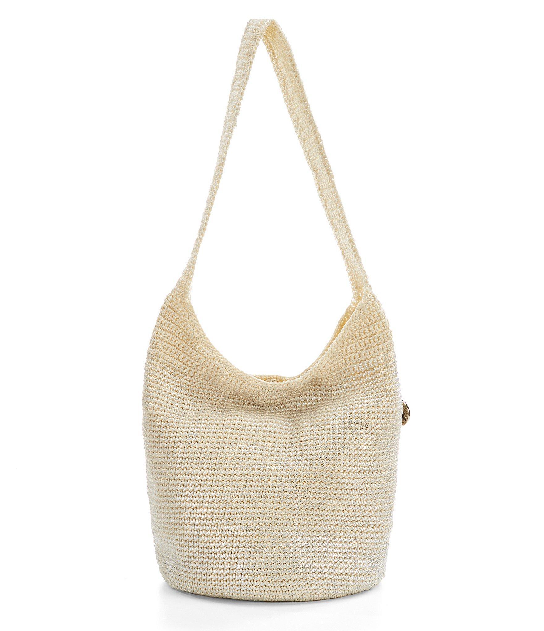 The Sak Palm Springs Metallic Crochet Hobo Bag In Metallic