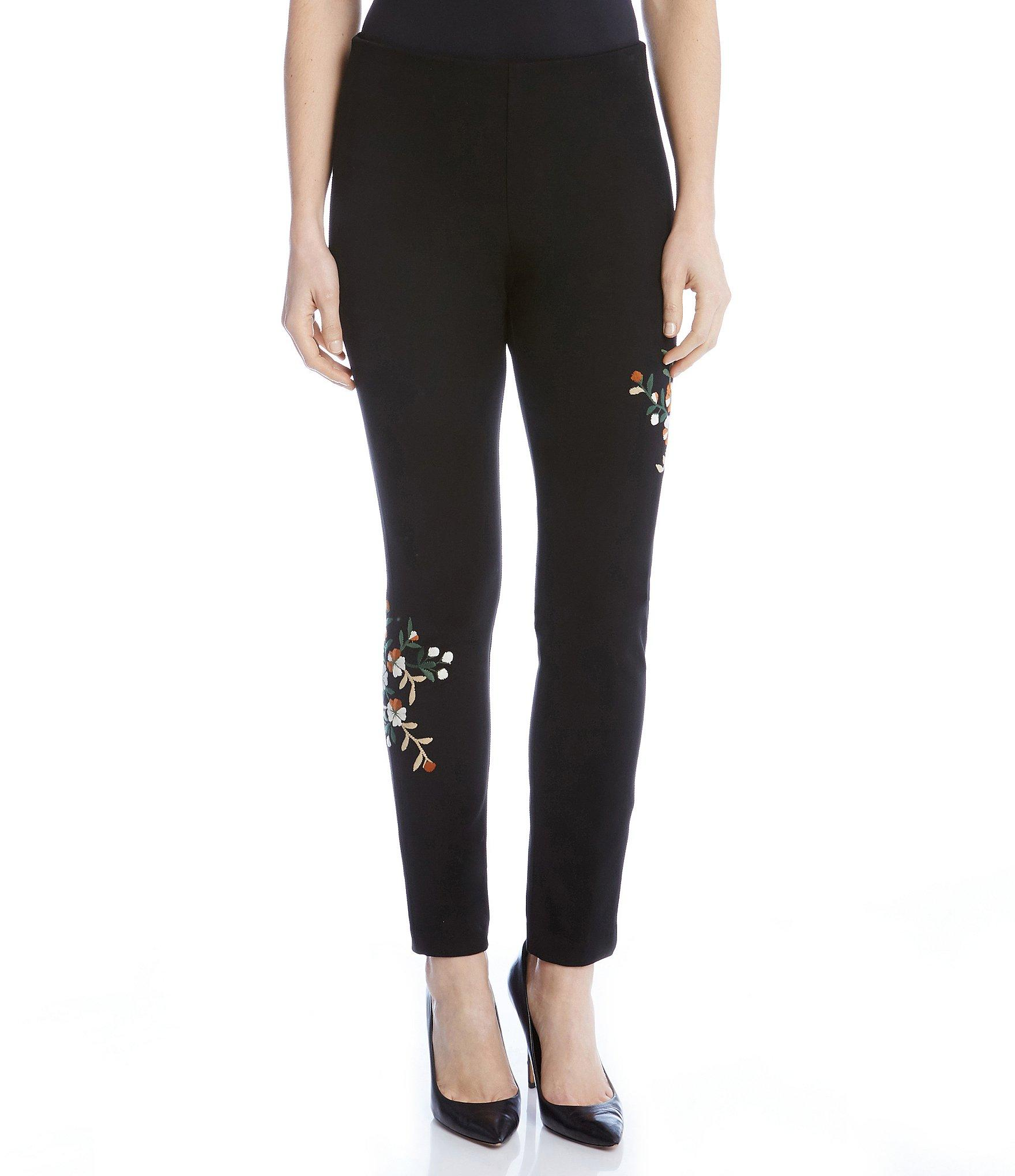 Karen kane Embroidered Piper Pants in Black | Lyst