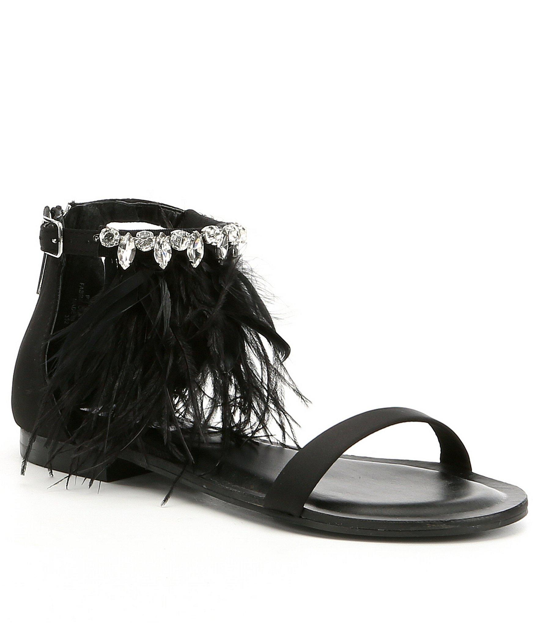 f221b82c6c9b Lyst - Steve Madden Adore Feather Sandals in Black