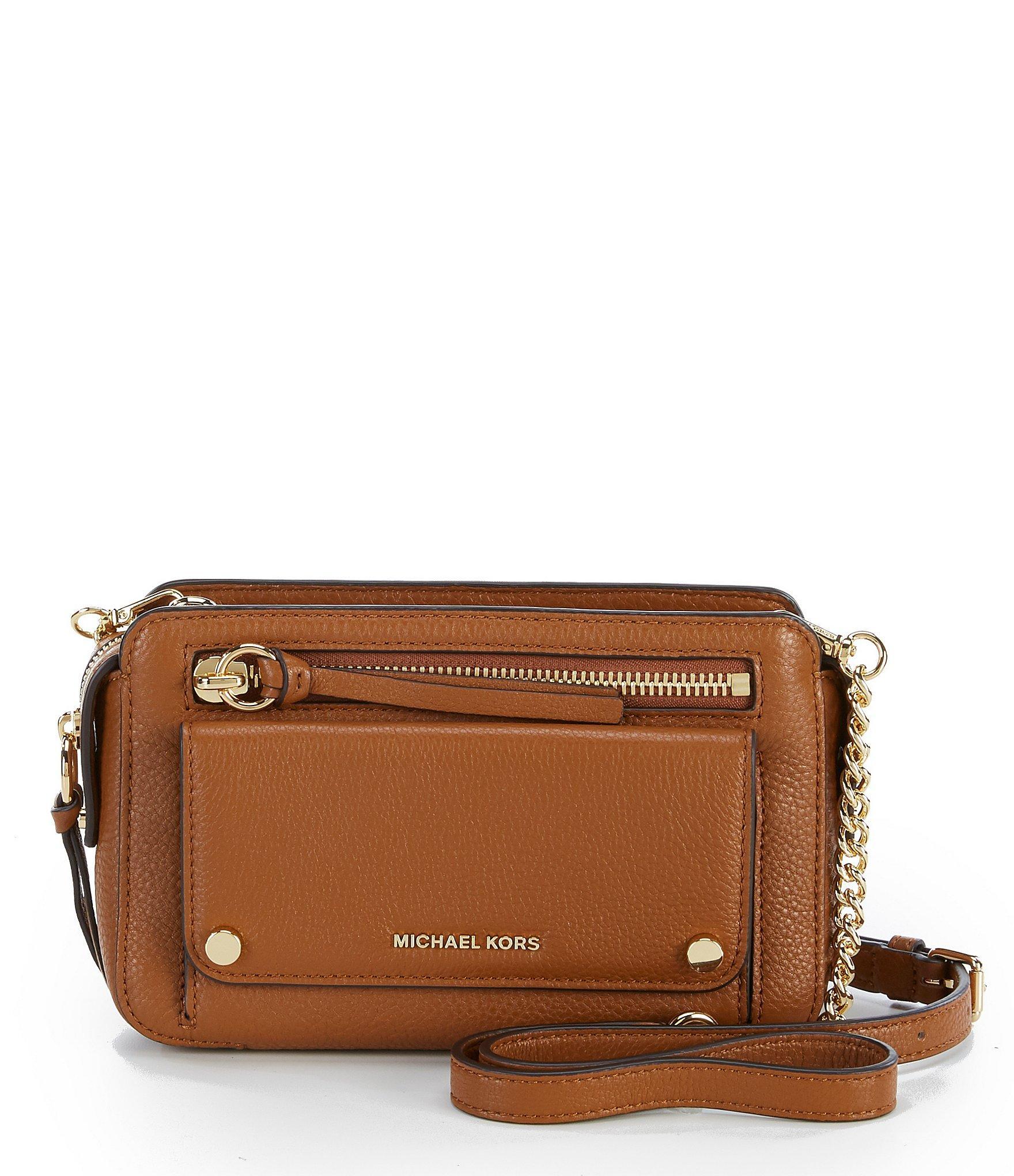 8f78a565b183 MICHAEL Michael Kors Mitchell Medium Cross-body Bag in Brown - Lyst