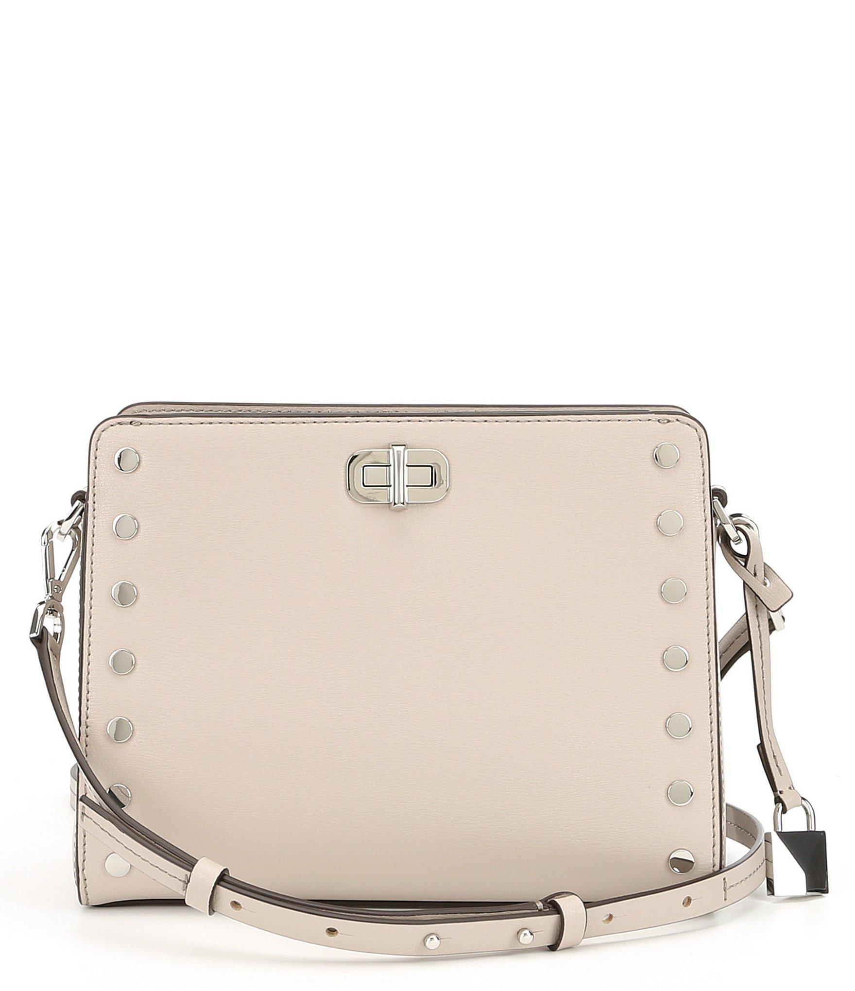 cf9b69905ab6 MICHAEL Michael Kors Sylvie Stud Cross-body Bag in Natural - Lyst
