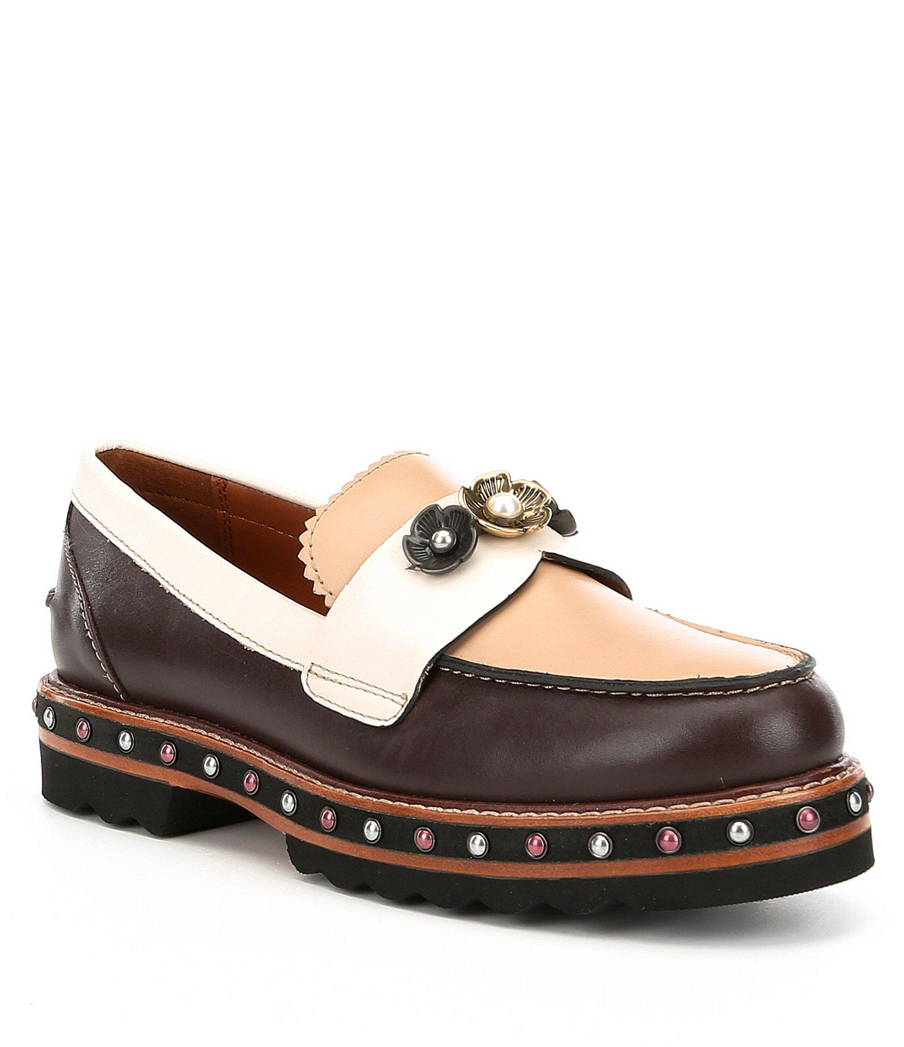 Lyst Coach Lenox Loafer In Brown