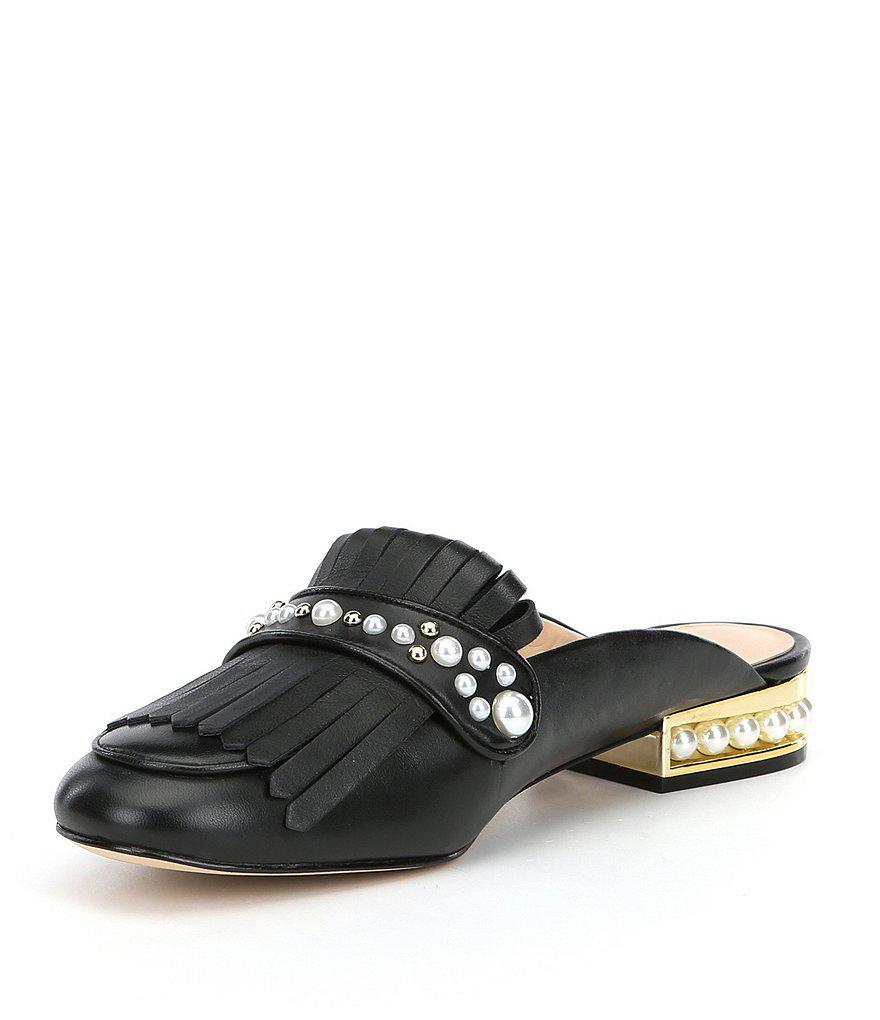 Becky Kiltie Pearl Stud Detail Dress Mules j7wEEh1
