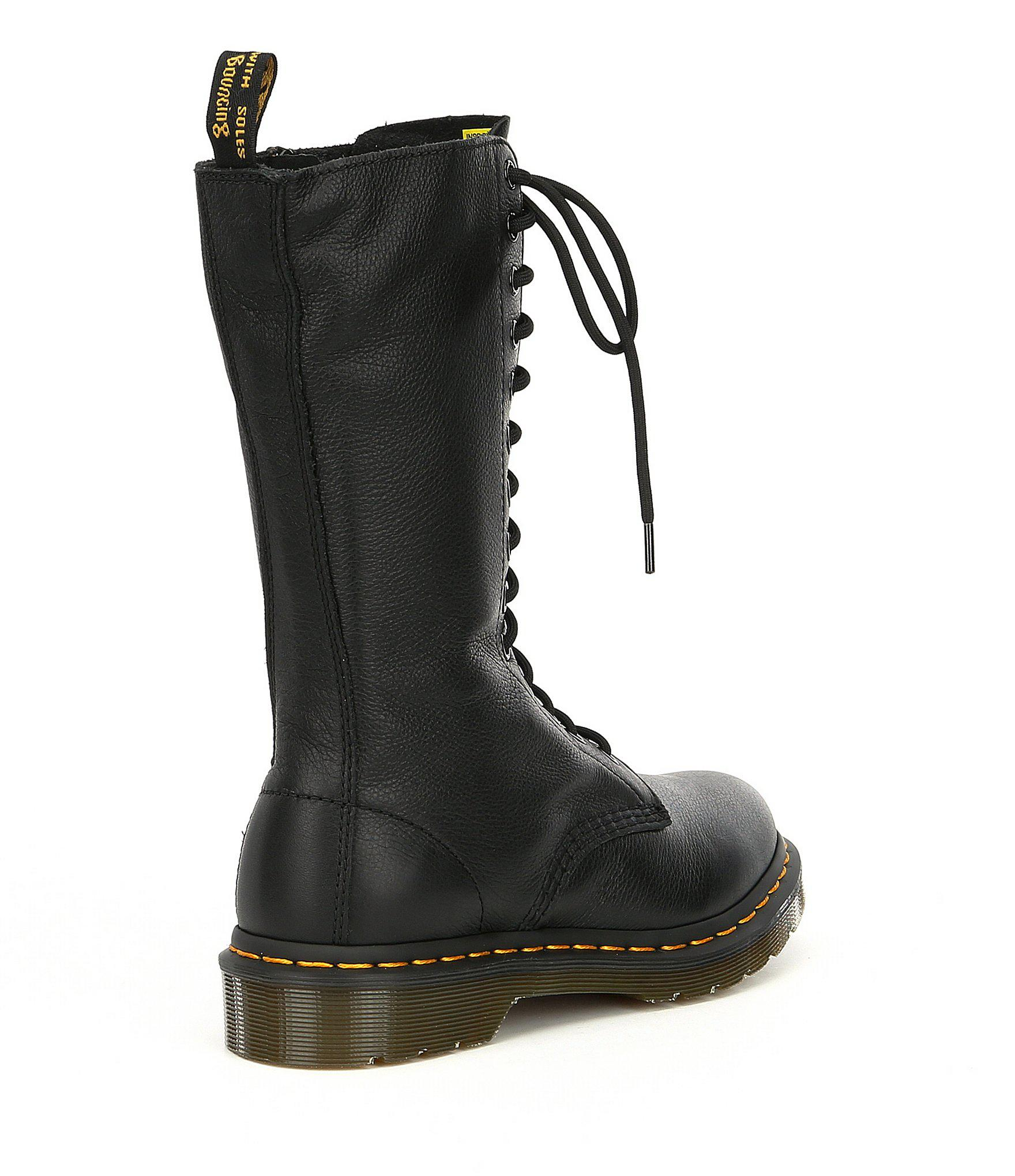15aa4b6a9112 Dr. Martens - 1b99 Black Virginia 14-eye Boots - Lyst. View fullscreen