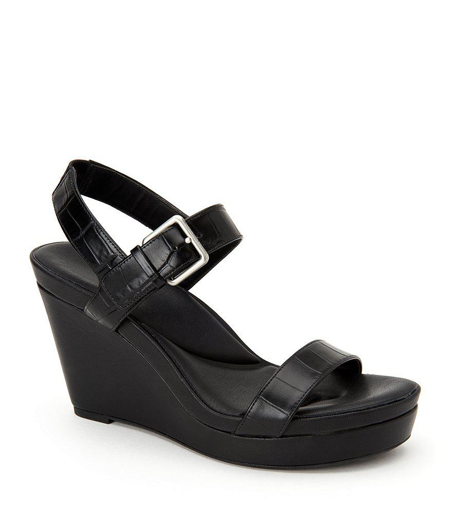 Calvin Klein Embossed Platform Wedges big sale cheap price cheap original best wholesale for sale sale supply R3Y0toc