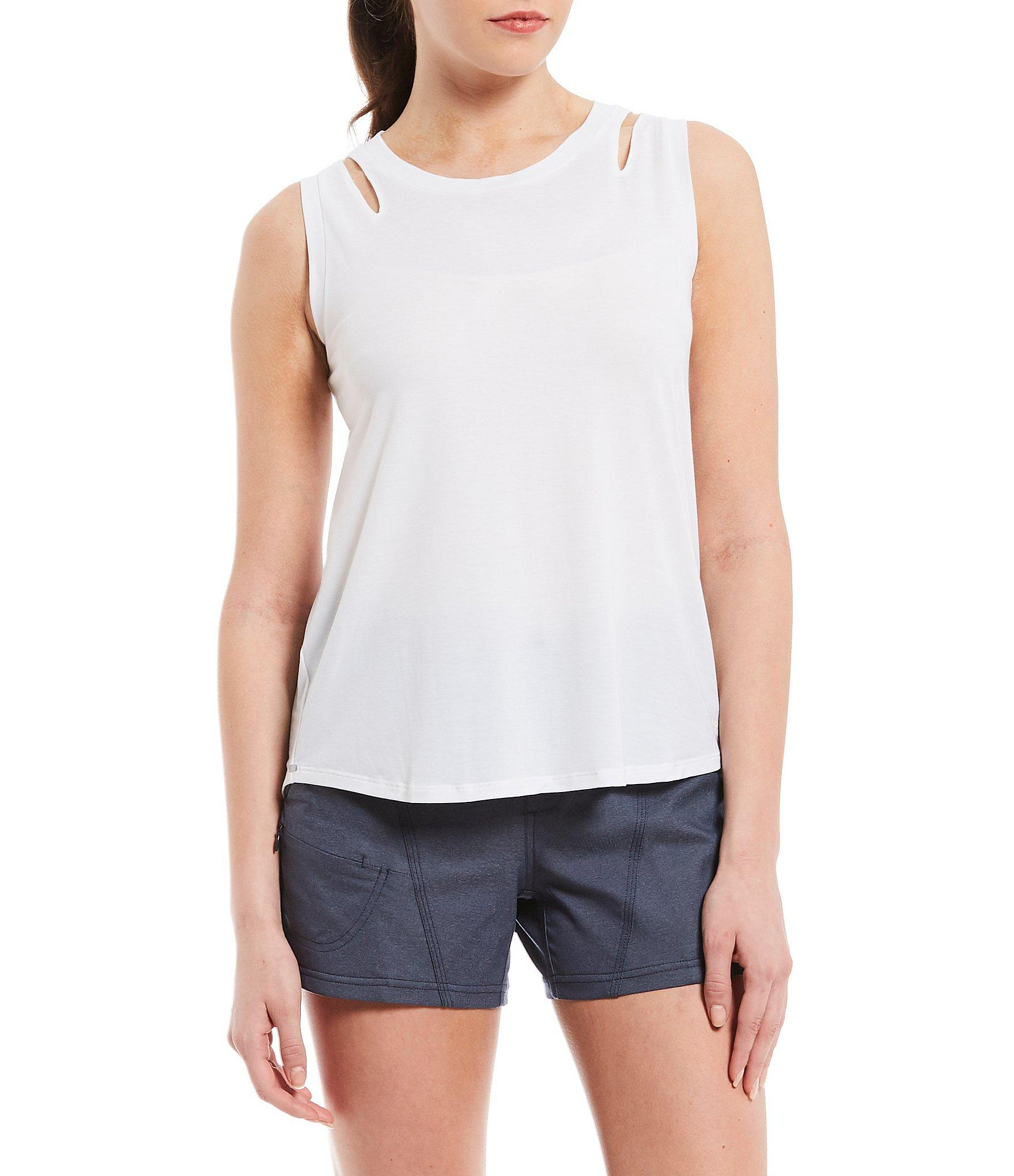 ab1b7ef09ba09 The North Face. Women s White Beyond The Wall Novelty Cut Out Sleeve Tank  Top