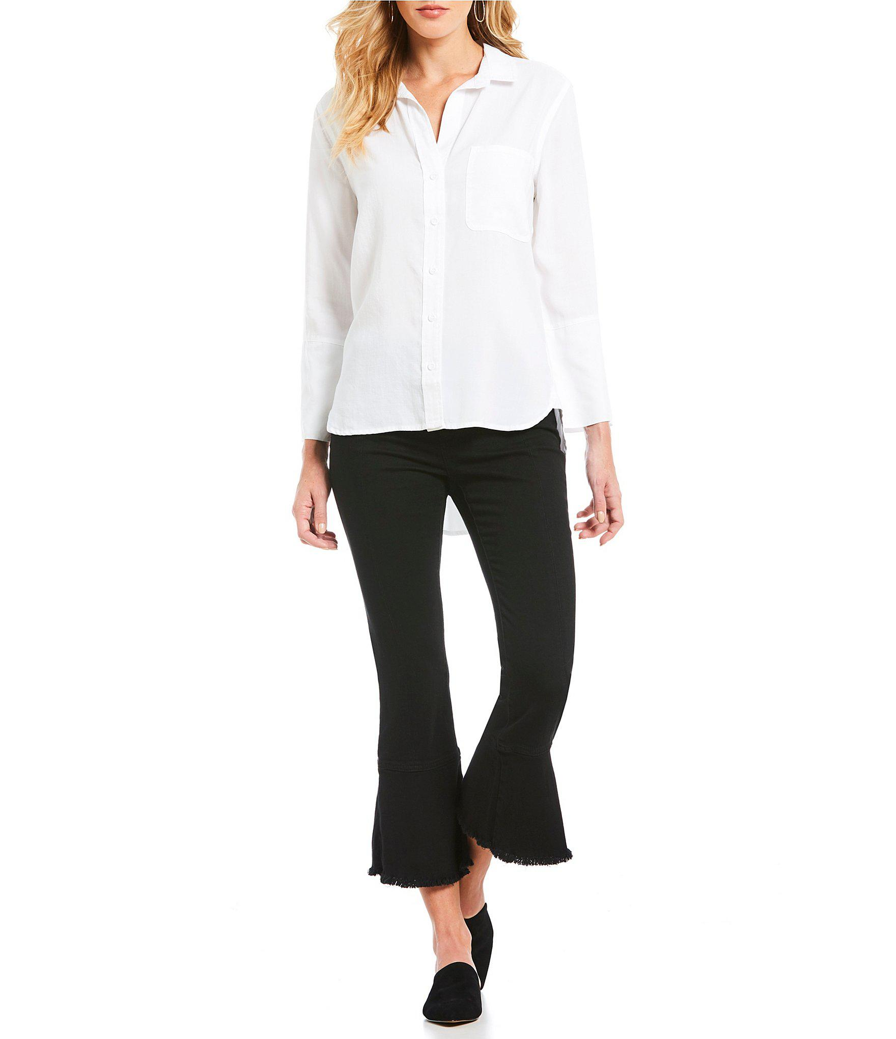 a34b8202609653 Lyst - Chelsea   Violet 3 4-sleeve Button-front Shirt in White