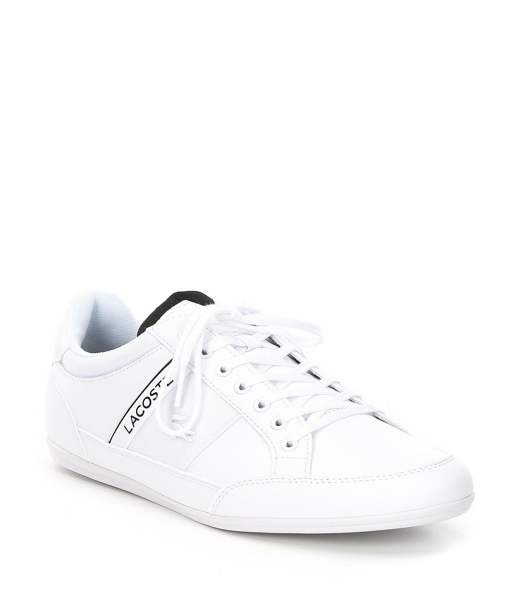 73ed22514f3a Lyst - Lacoste Men s Chaymon Leather Sneaker in White for Men