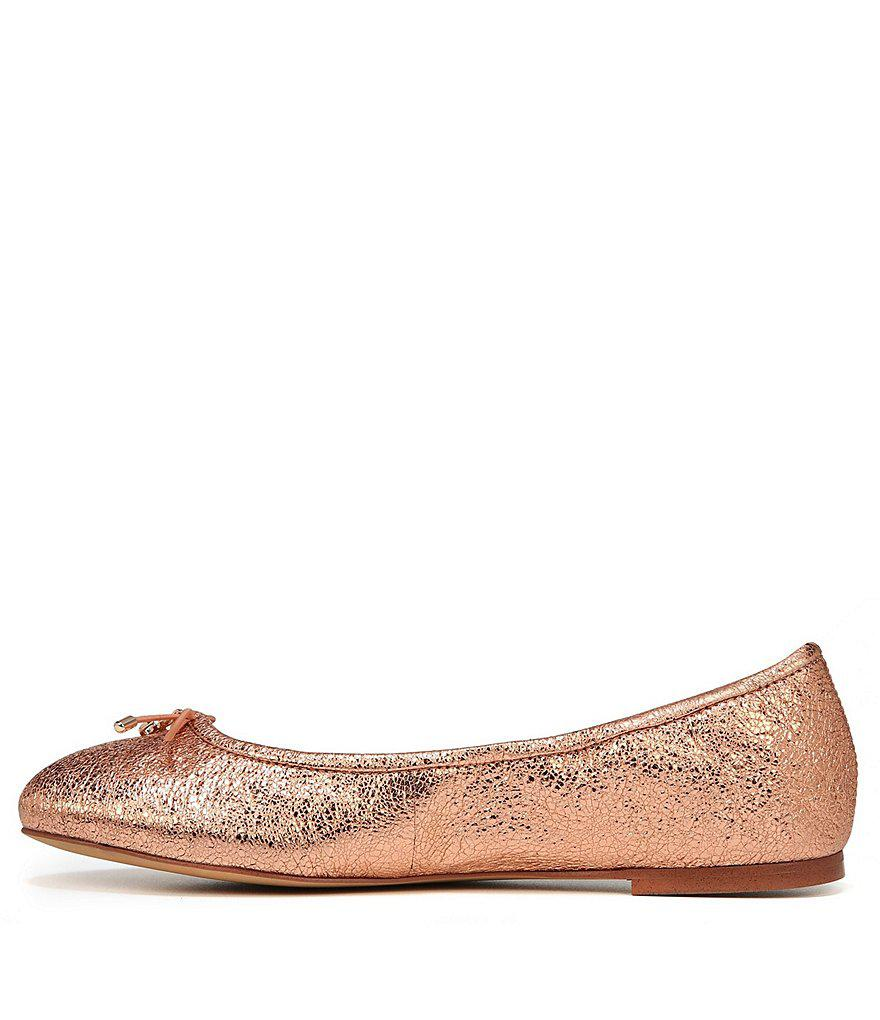 Sam Edelman Felicia Crinkle Metallic Leather Flats 0Onsi9