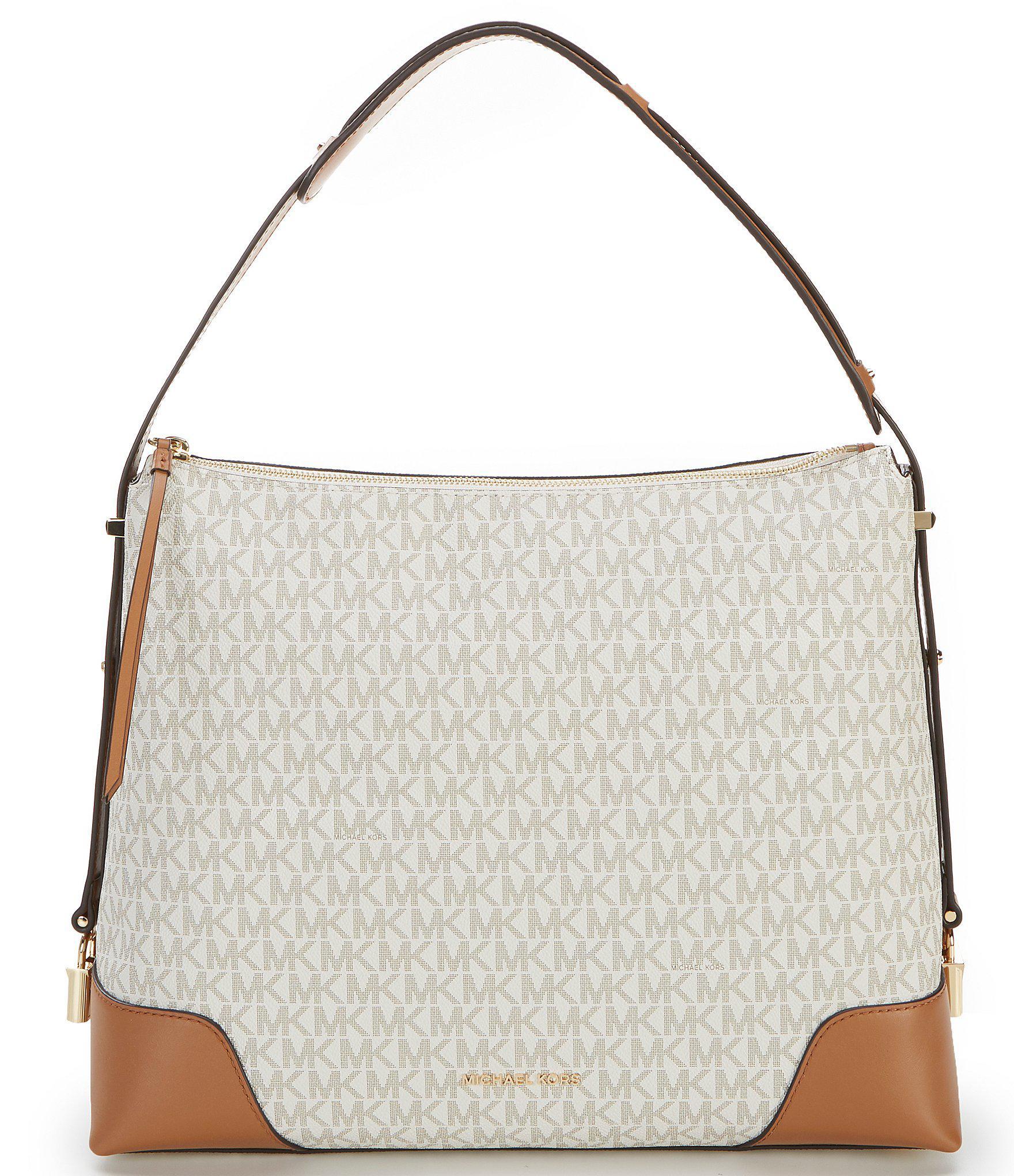 92f34350b489 Lyst - MICHAEL Michael Kors Crosby Large Twill Shoulder Bag