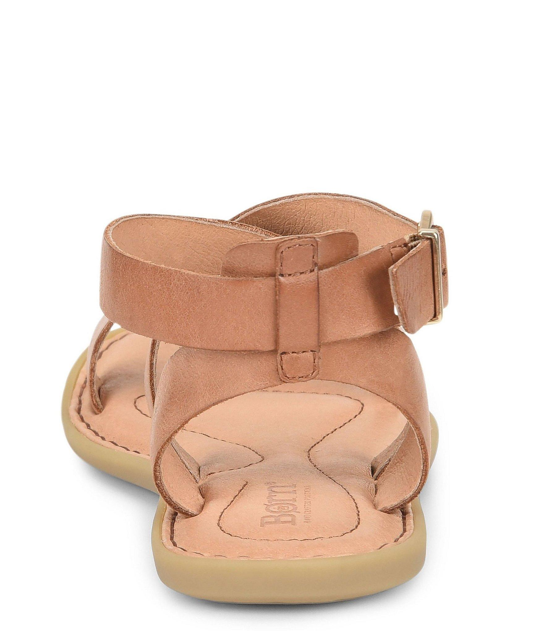 1ee9d2262db Lyst - Born Oak Leather Flat Banded Sandals in Brown