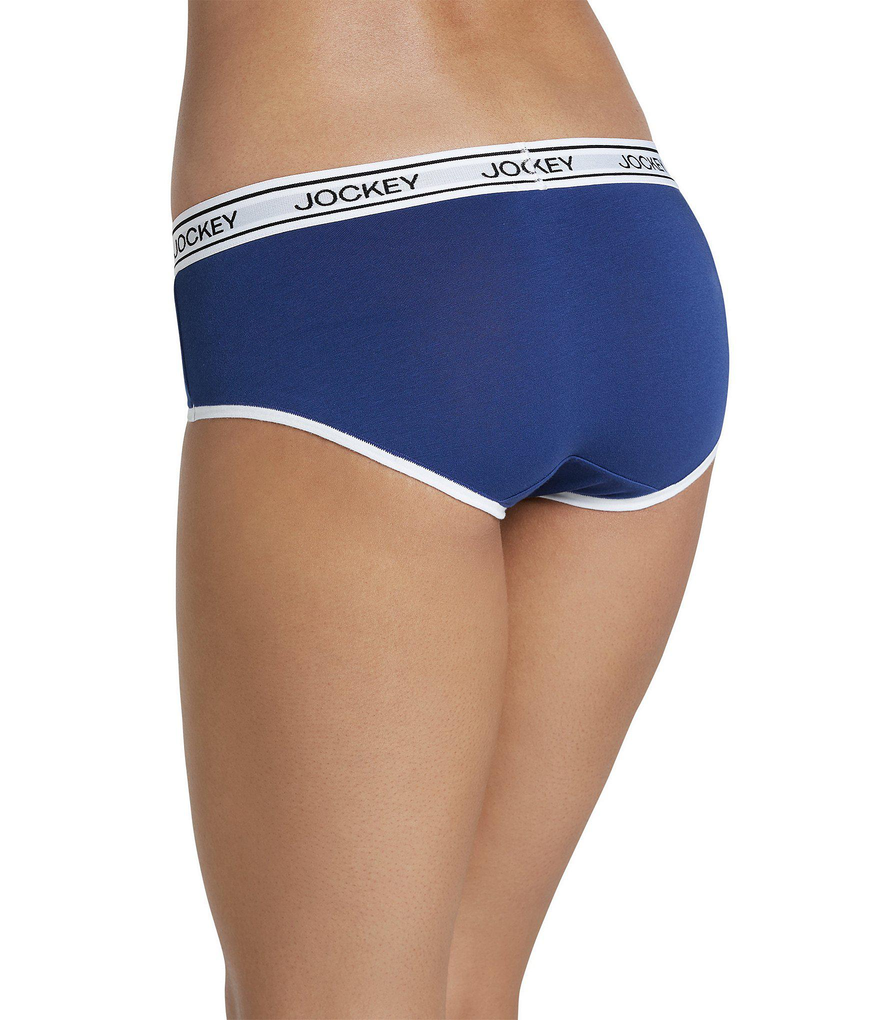 544322cc3796 Jockey Signature Modern Mix Logo Y-front Hipster Panty in Blue - Lyst